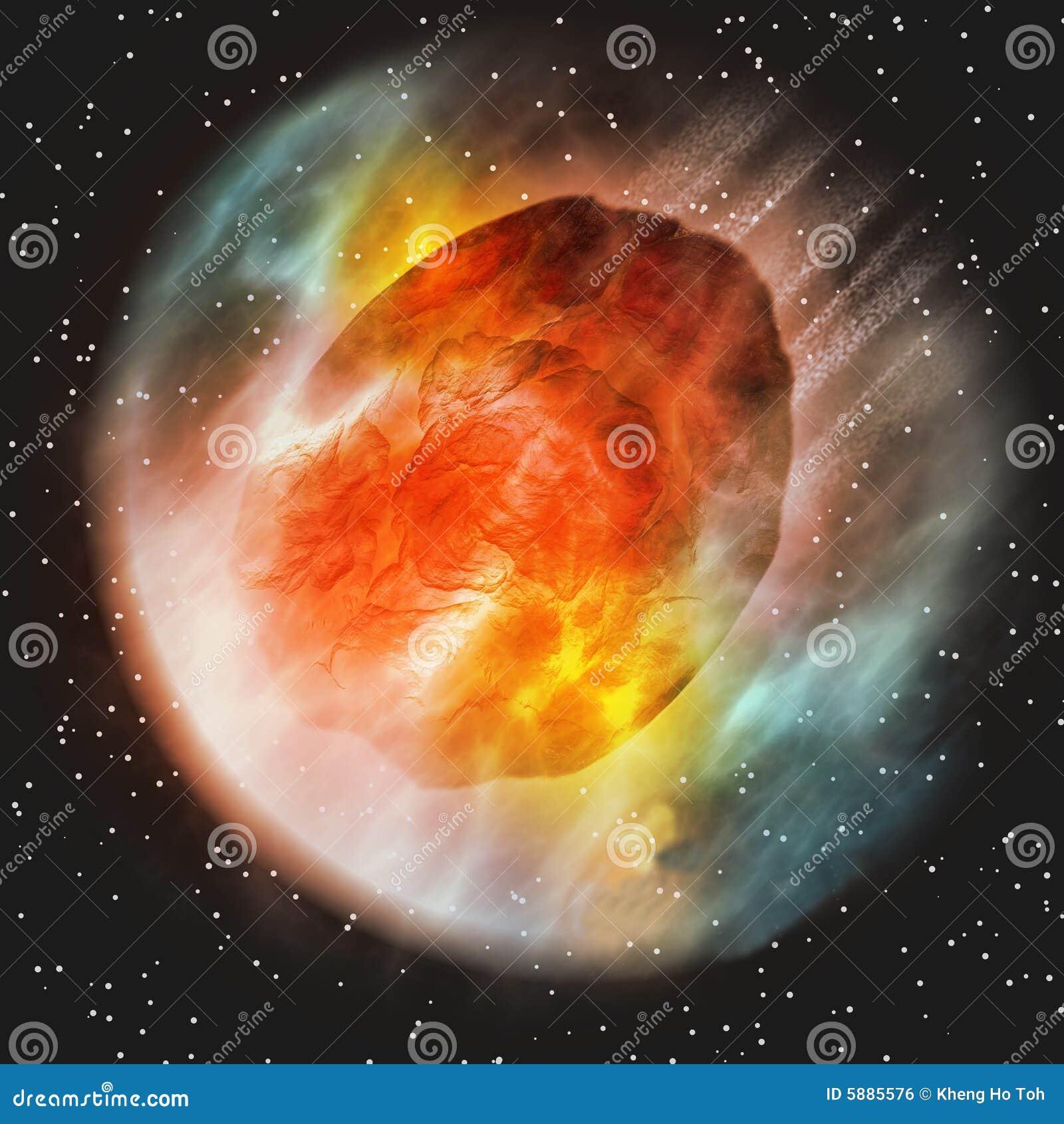 Asteroïde die de Atmosfeer van de Aarde ingaat