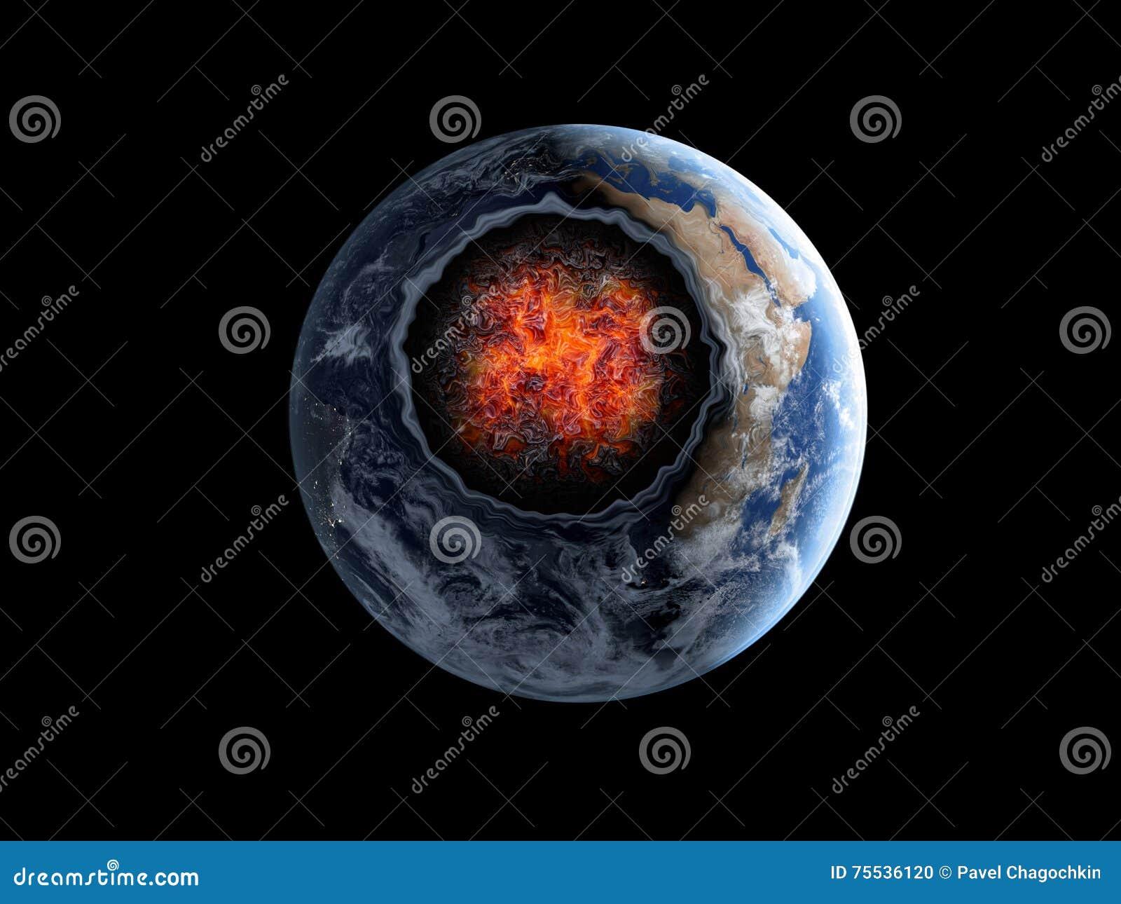 Asteroïde volant, météorite à la terre Espace extra-atmosphérique armageddon