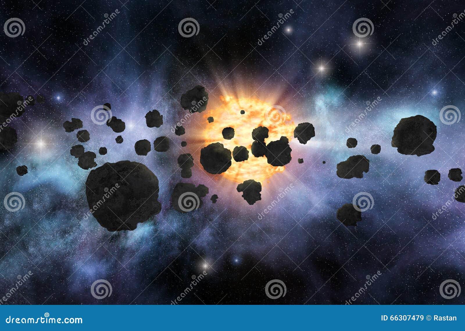 asteroid belt white background - photo #15