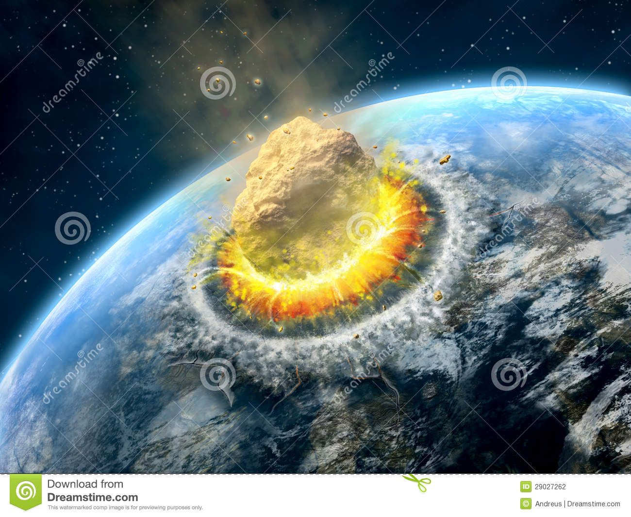 meteor comet and collision impact debris Meteorites, impacts,  meteor showers - during certain times of the year,  asteroid/comet impact regional : 1 in 1,600,000.