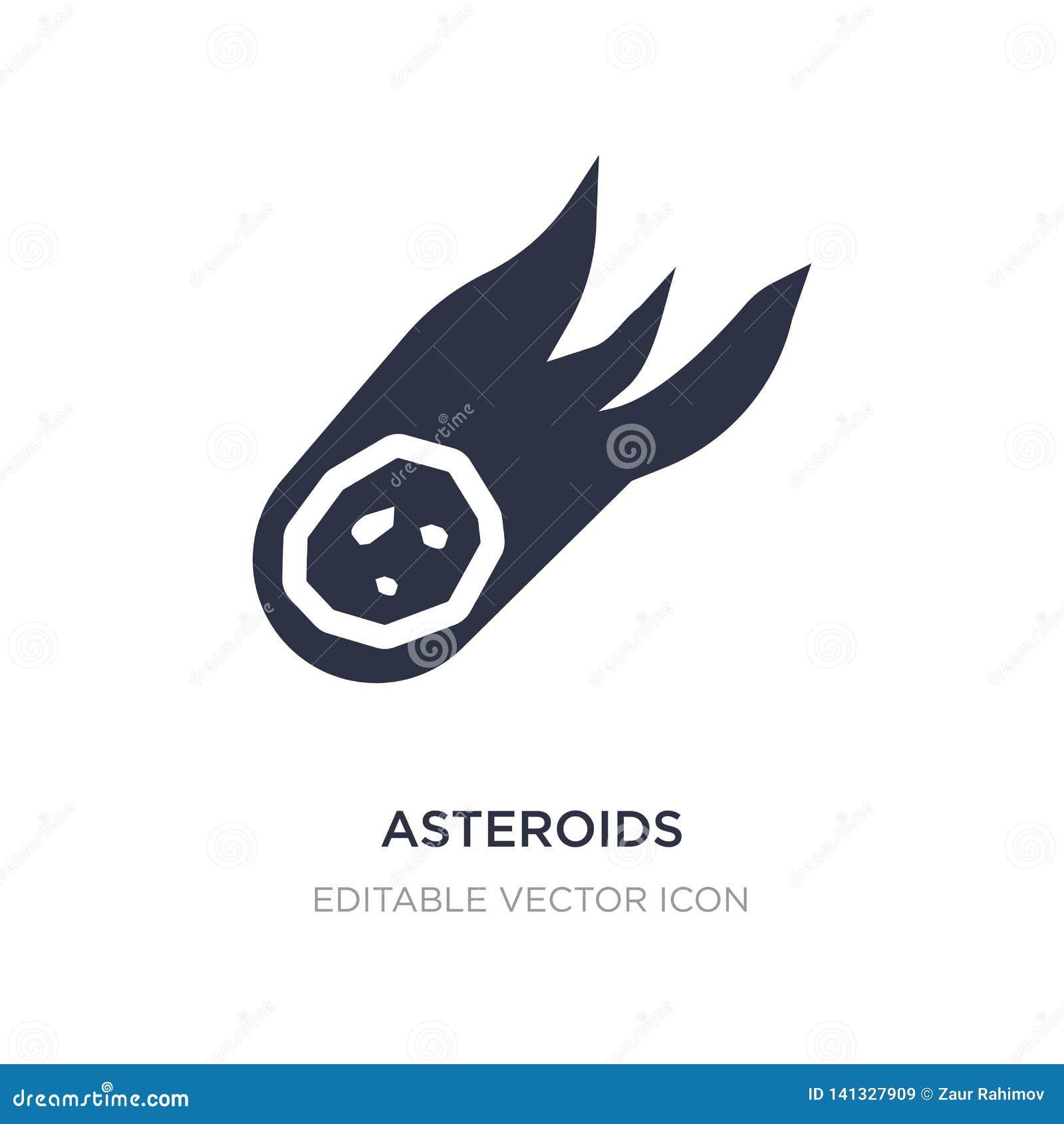 Asteroidy ikona na białym tle Prosta element ilustracja od natury pojęcia