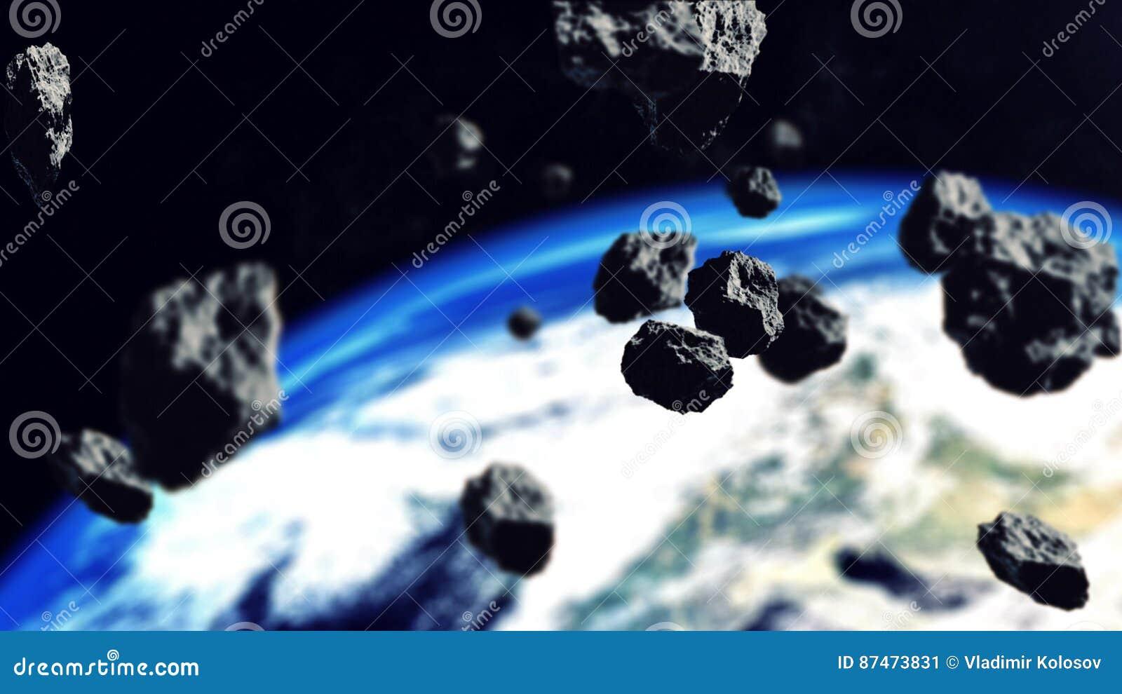 Asteroidy Zamyka Ziemska planeta