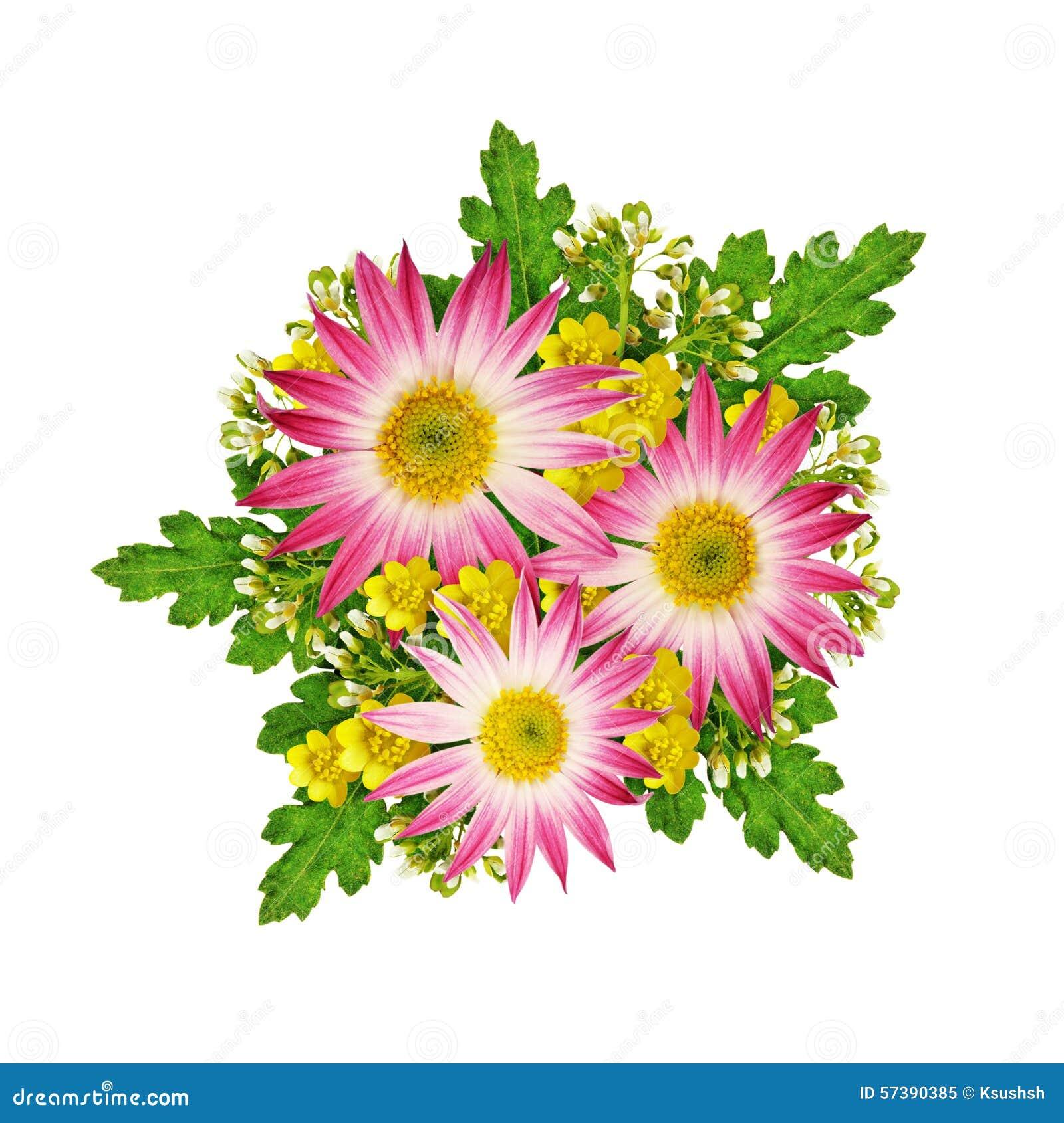 Asters en wild bloemenboeket