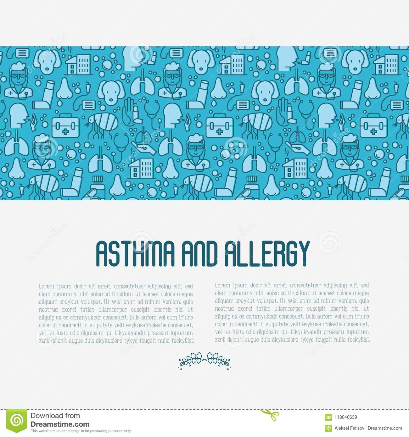 Asthma and allergy concept