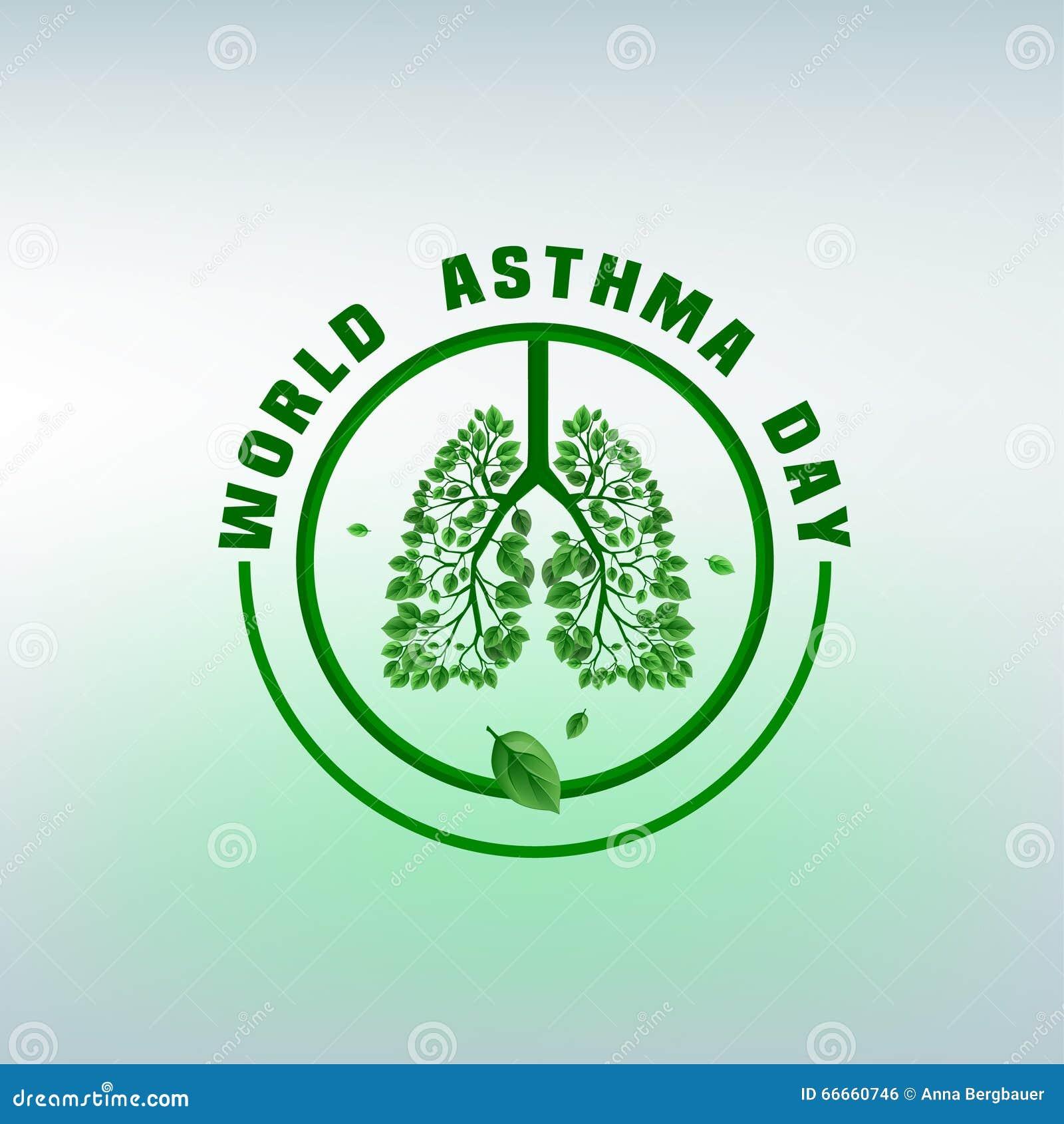 Asthma Day Logo stock vector. Illustration of anatomy - 66660746