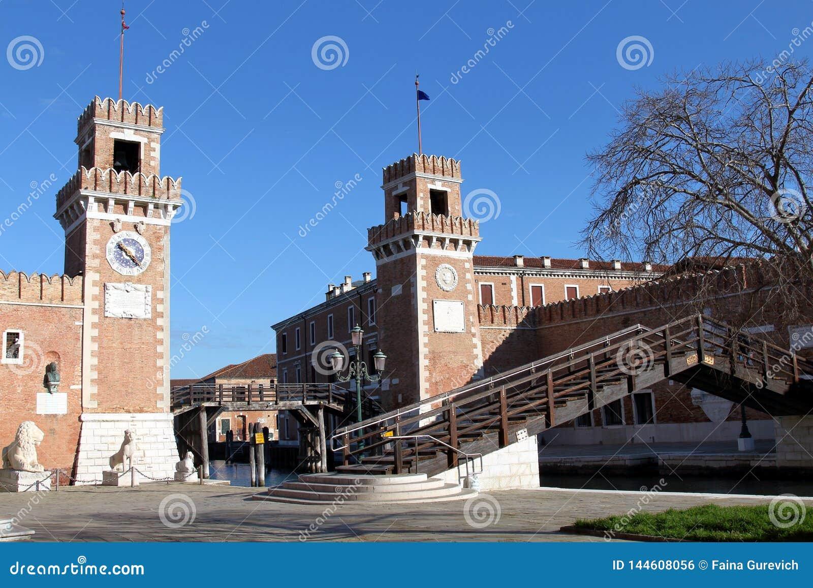 Astillero viejo del arsenal veneciano en Venecia, Italia