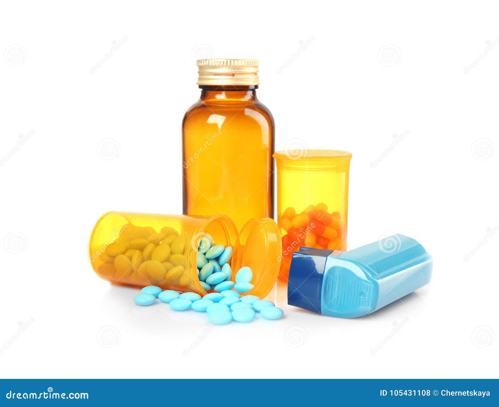 Astmainhalator och mediciner