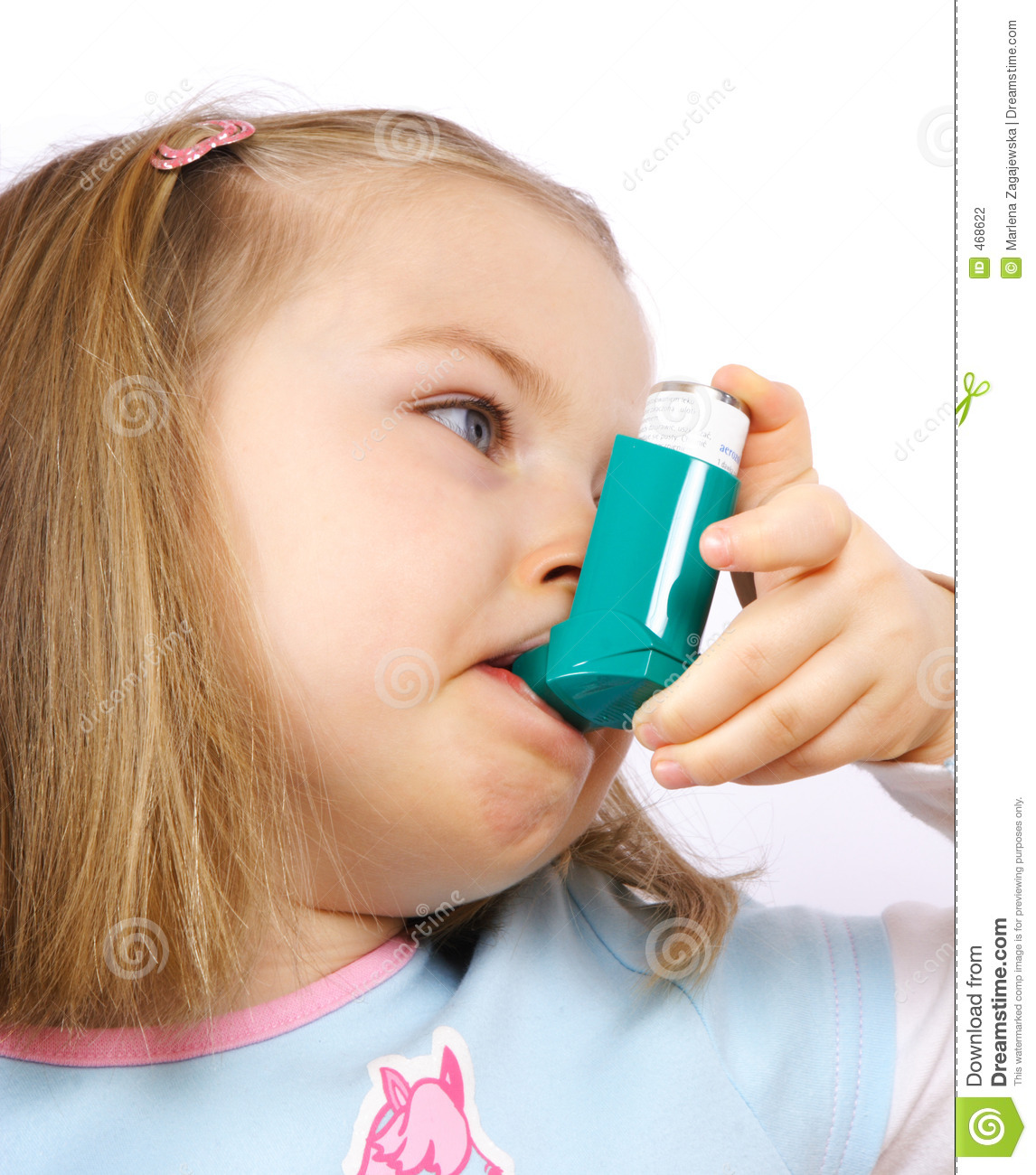 Download Astmatic girl stock photo. Image of asthma, medicine, asthmatics - 468622