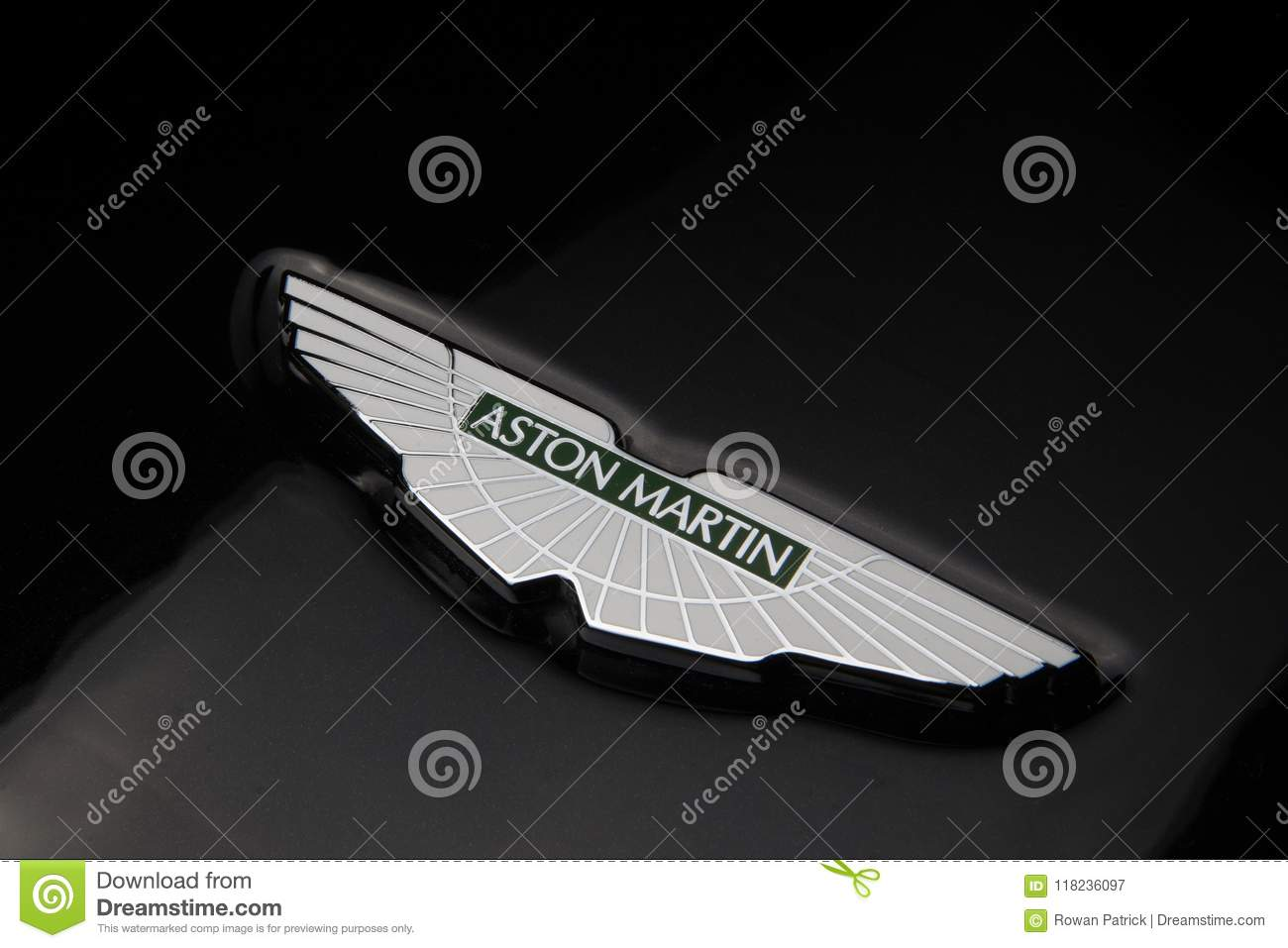 Aston Martin Badge Against Black Editorial Photography Image Of
