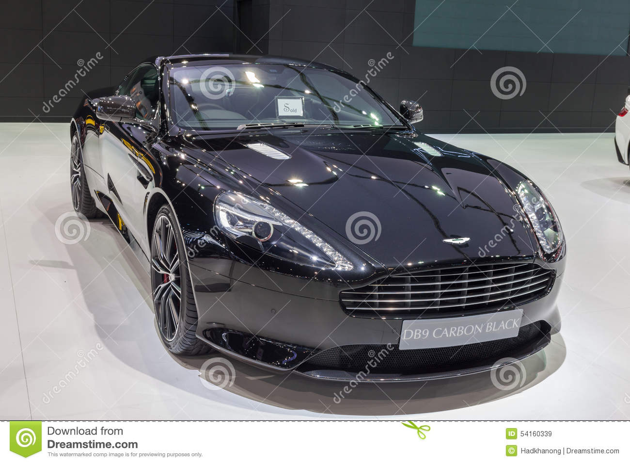 Aston Martin Db9 Carbon Black Editorial Stock Image Image Of
