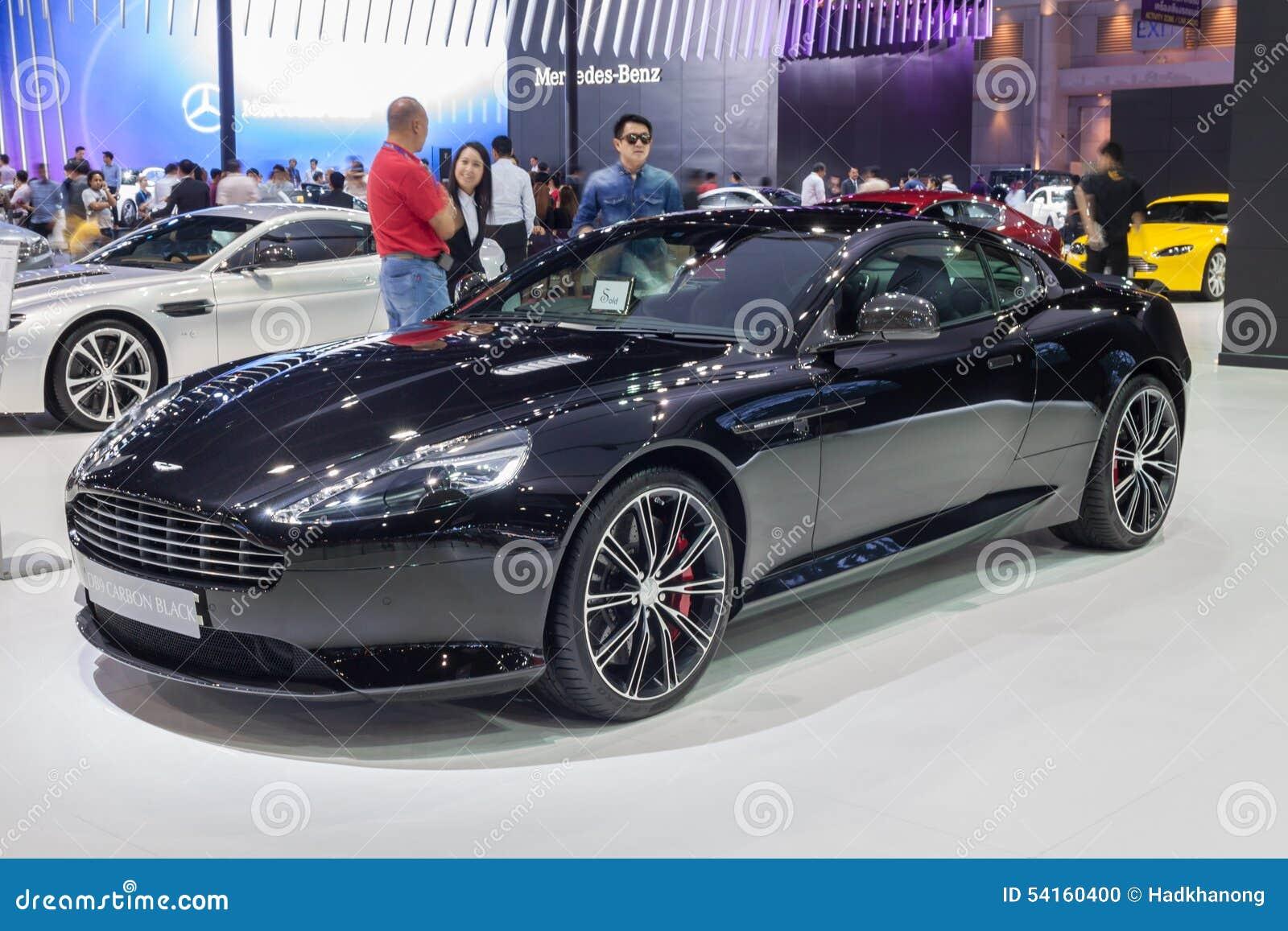 Aston Martin Db9 Carbon Black Editorial Image Image Of Logo Business 54160400