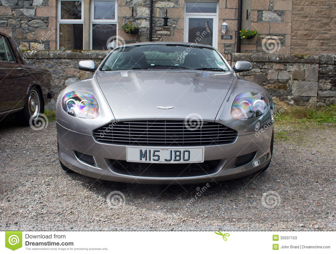 aston martin db9 front grille editorial stock photo - image of brand