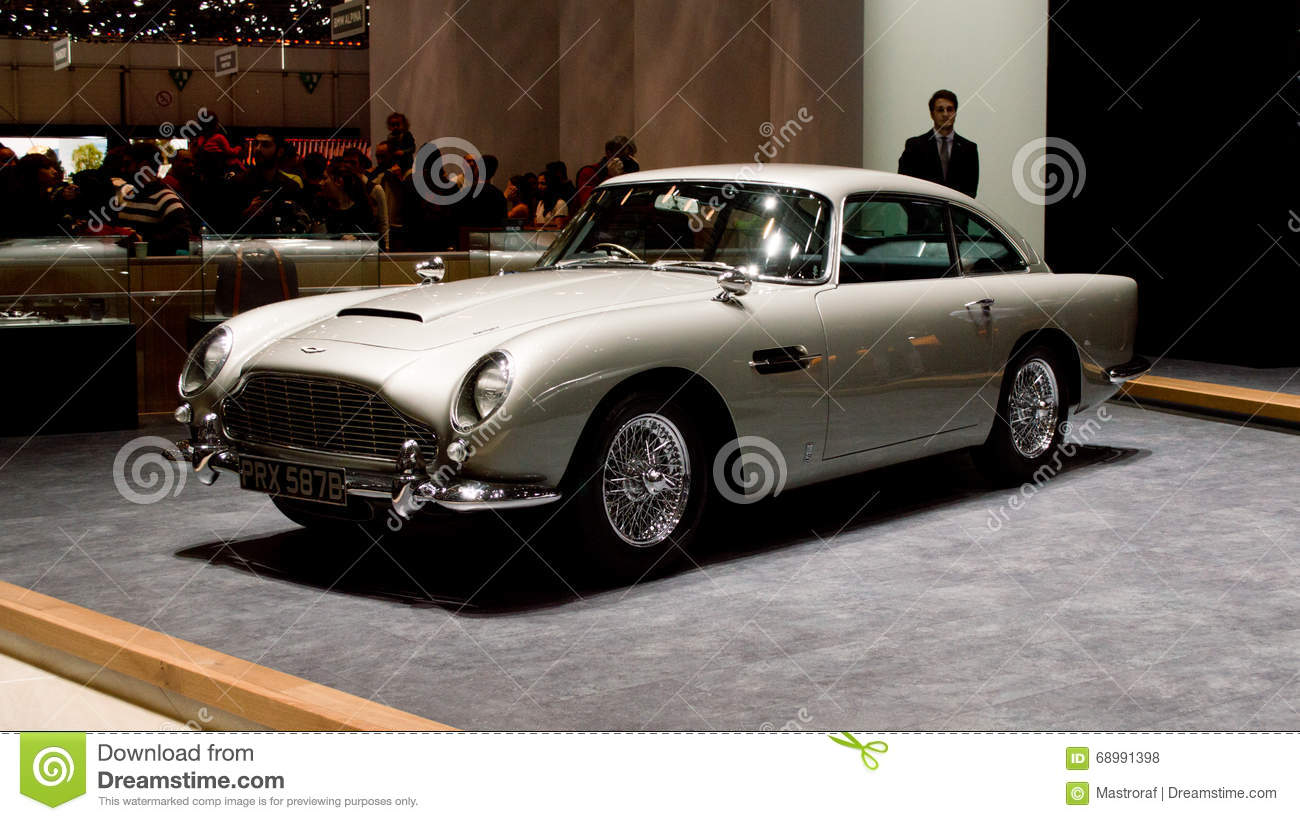 aston martin db5 at geneva 2016 editorial stock photo image 68991398. Black Bedroom Furniture Sets. Home Design Ideas