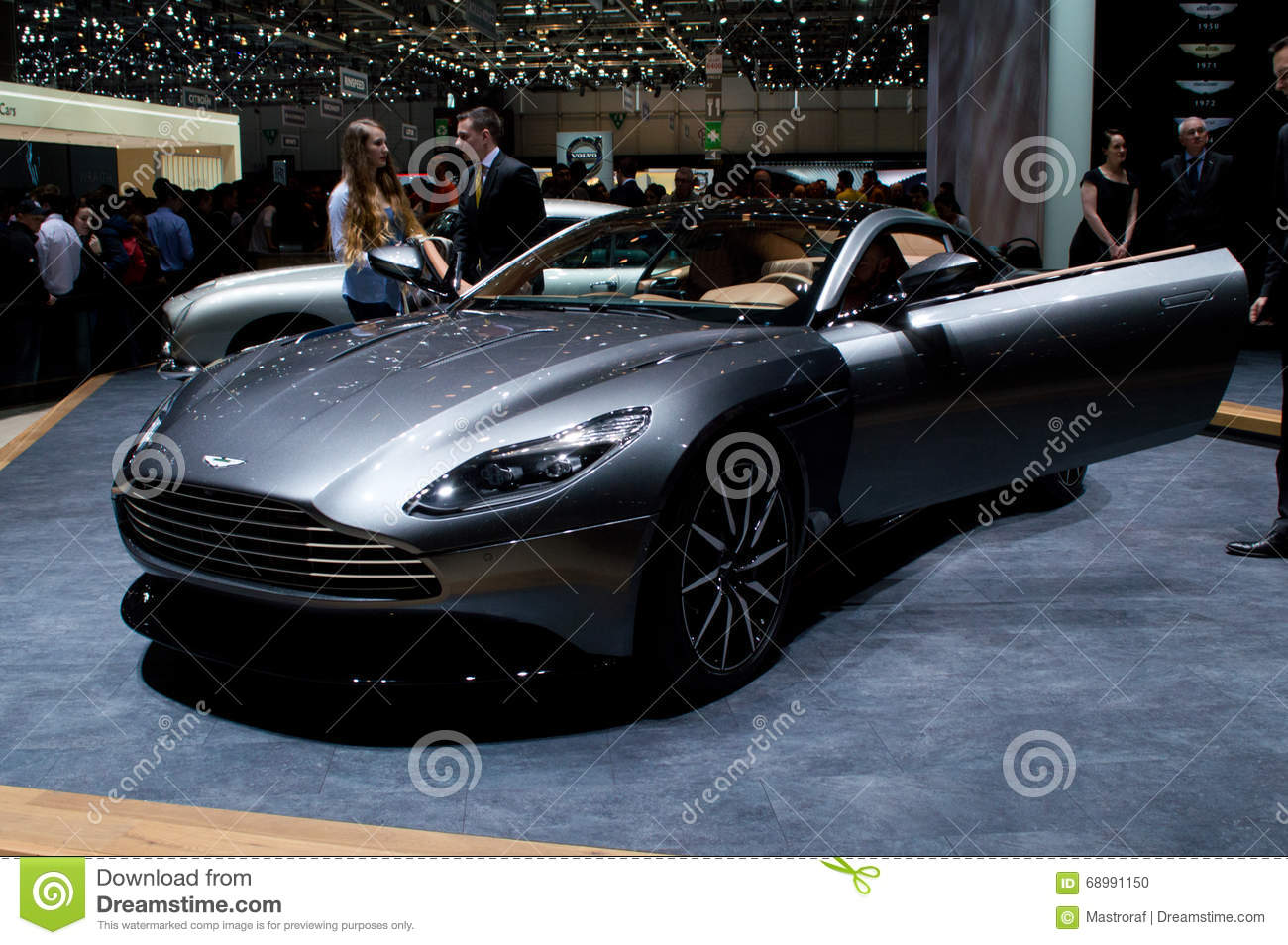 aston martin db11 volante at geneva 2016 editorial image - image of