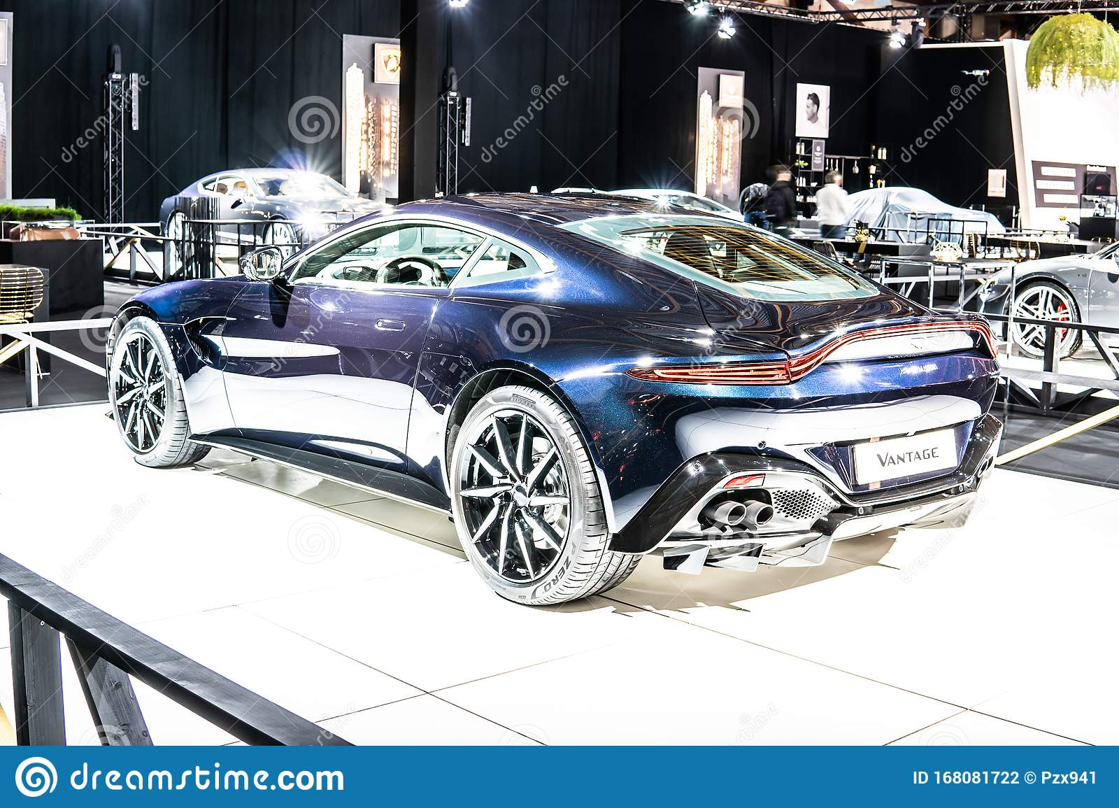 Aston Martin V8 Vantage At Brussels Motor Show Dream Cars British Two Seater Sports Car By Aston Martin Editorial Photography Image Of Auto Exhibition 168081722