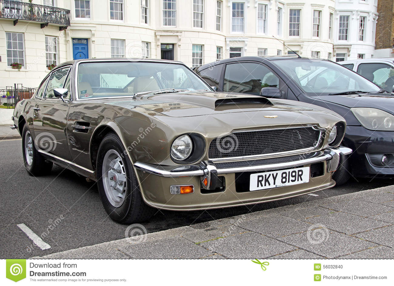 aston martin v8 vantage db8 1976 editorial image image 56032840. Black Bedroom Furniture Sets. Home Design Ideas