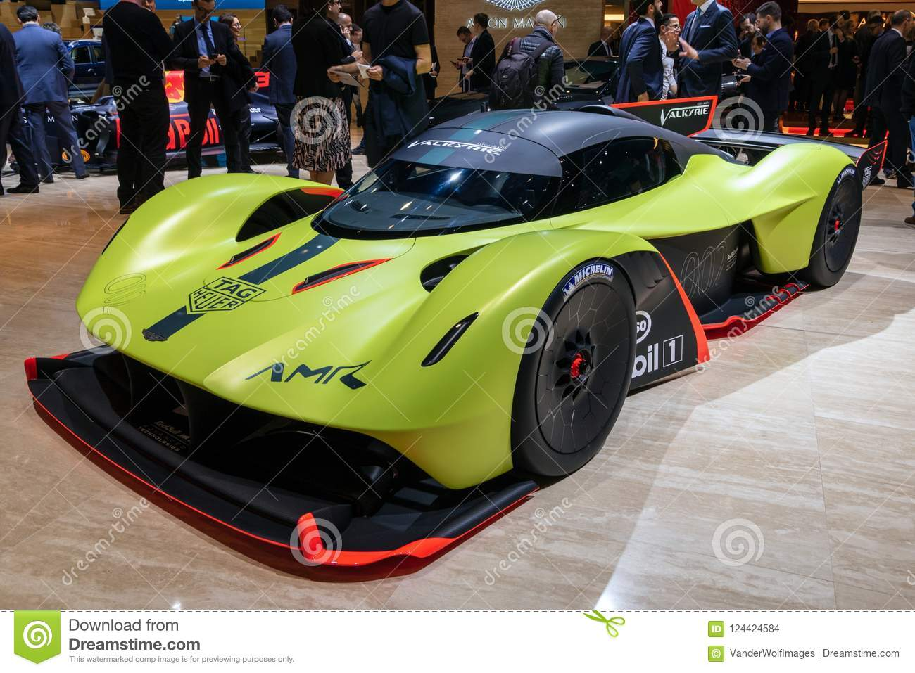 2018 Aston Martin Valkyrie Amr Pro Sports Car Editorial Stock Image