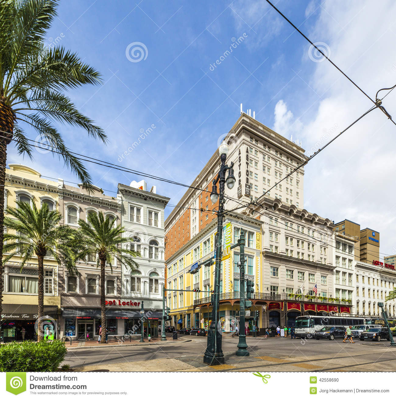 Astor Crowne Plaza Hotel At The Crossing Of Canal Street And Bourbon ...