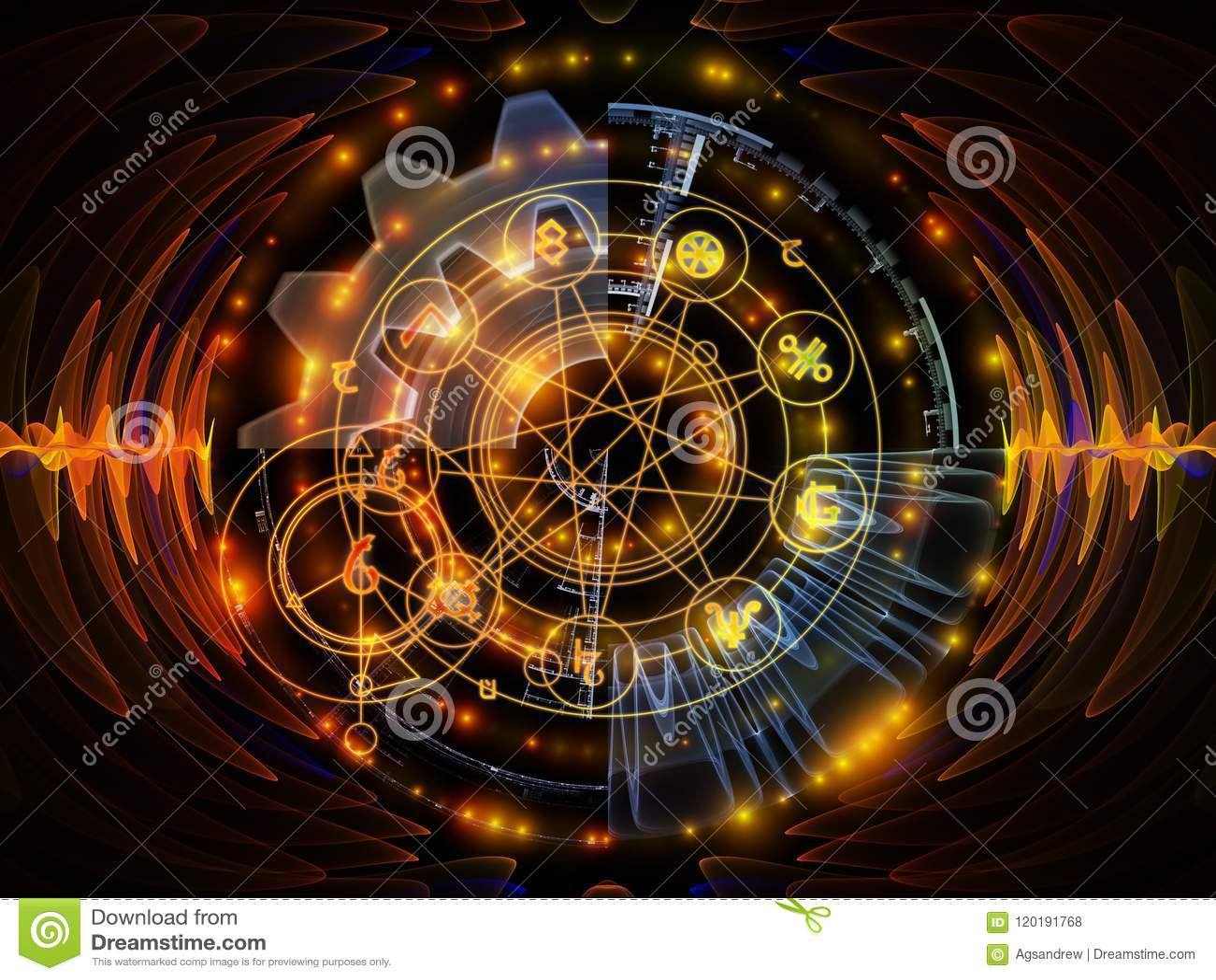 Speed of Mystic Circle stock illustration  Illustration of
