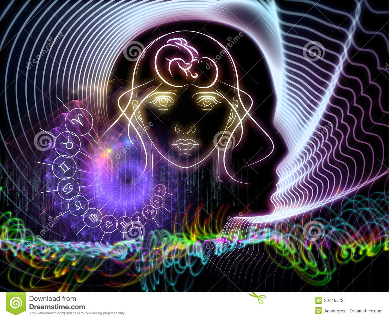 astral knowledge stock photography