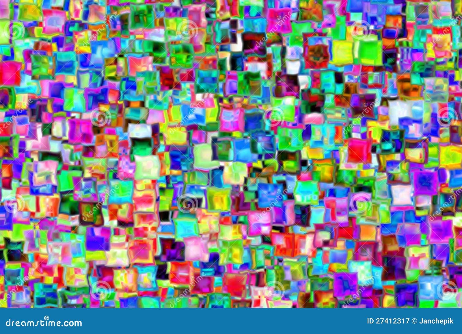 Immagine a memoria d'immagine sotto forma di colorfull quadra da
