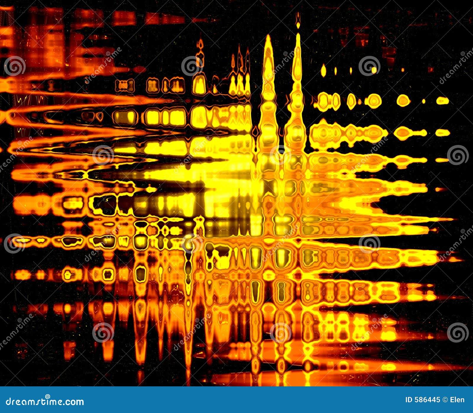 Astrazione della fiamma su vetro