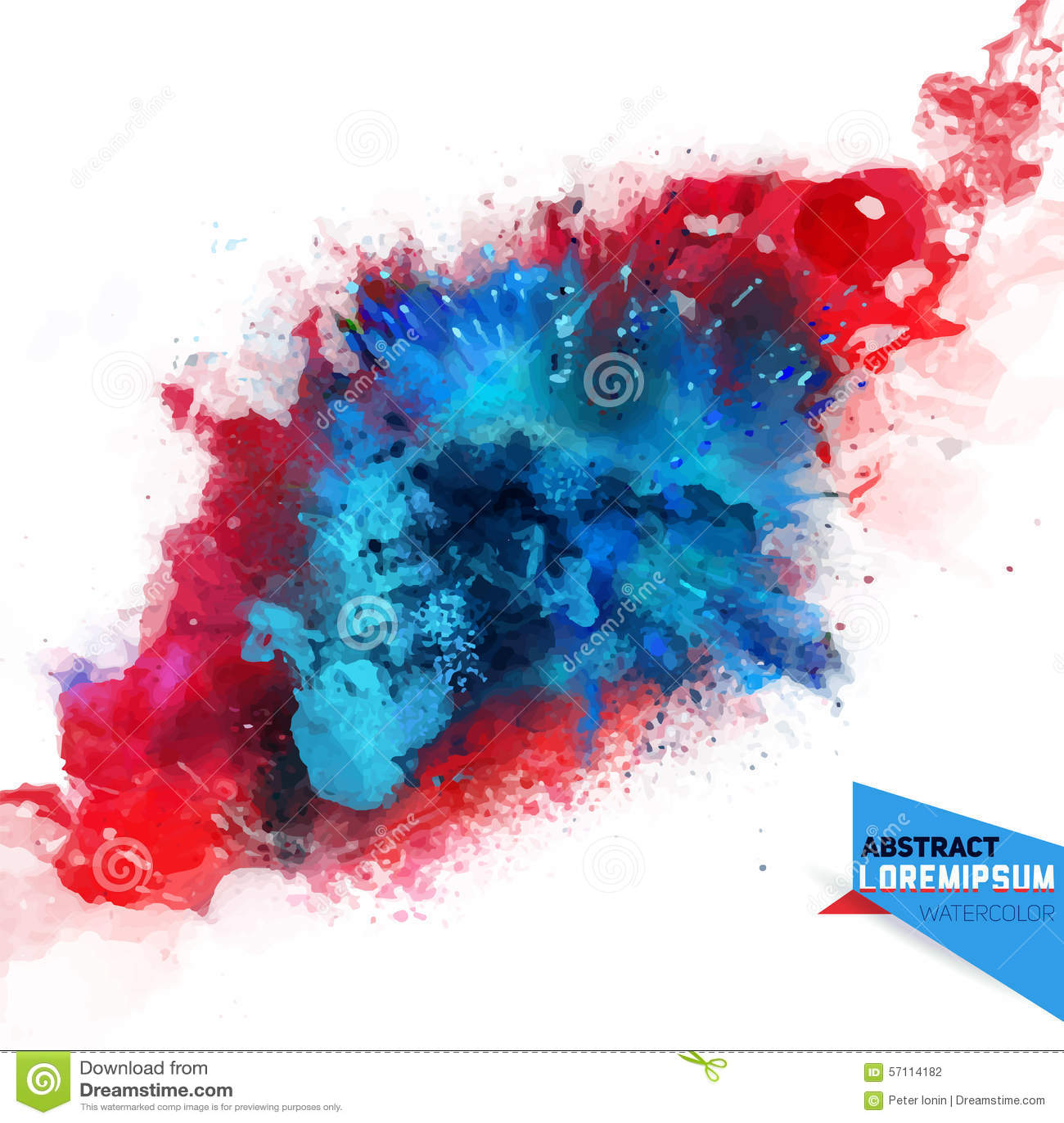 Astrazione di vettore da una miscela dei colori