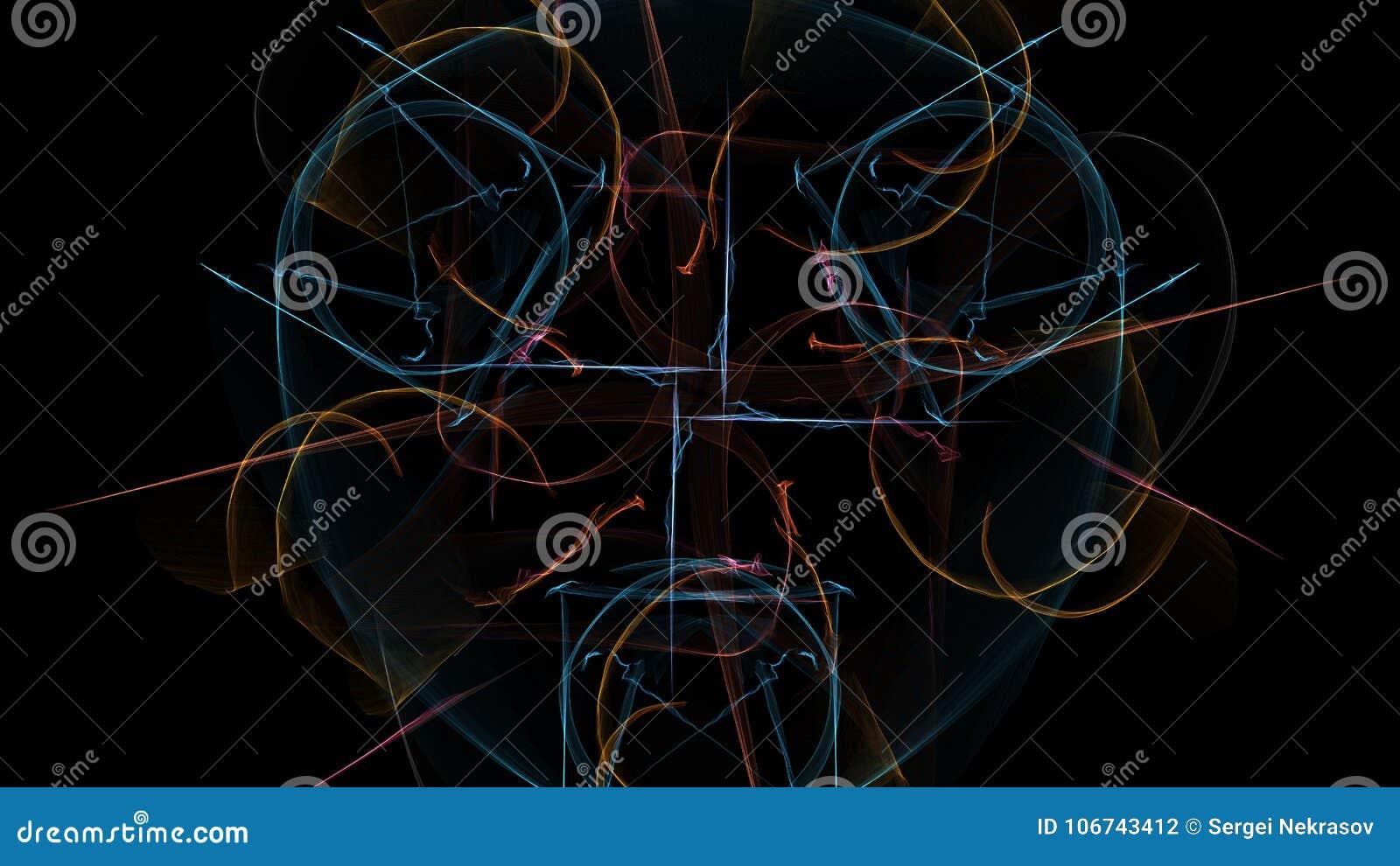 Astrazione scura di movimento a orologeria, progettazione dello steampunk