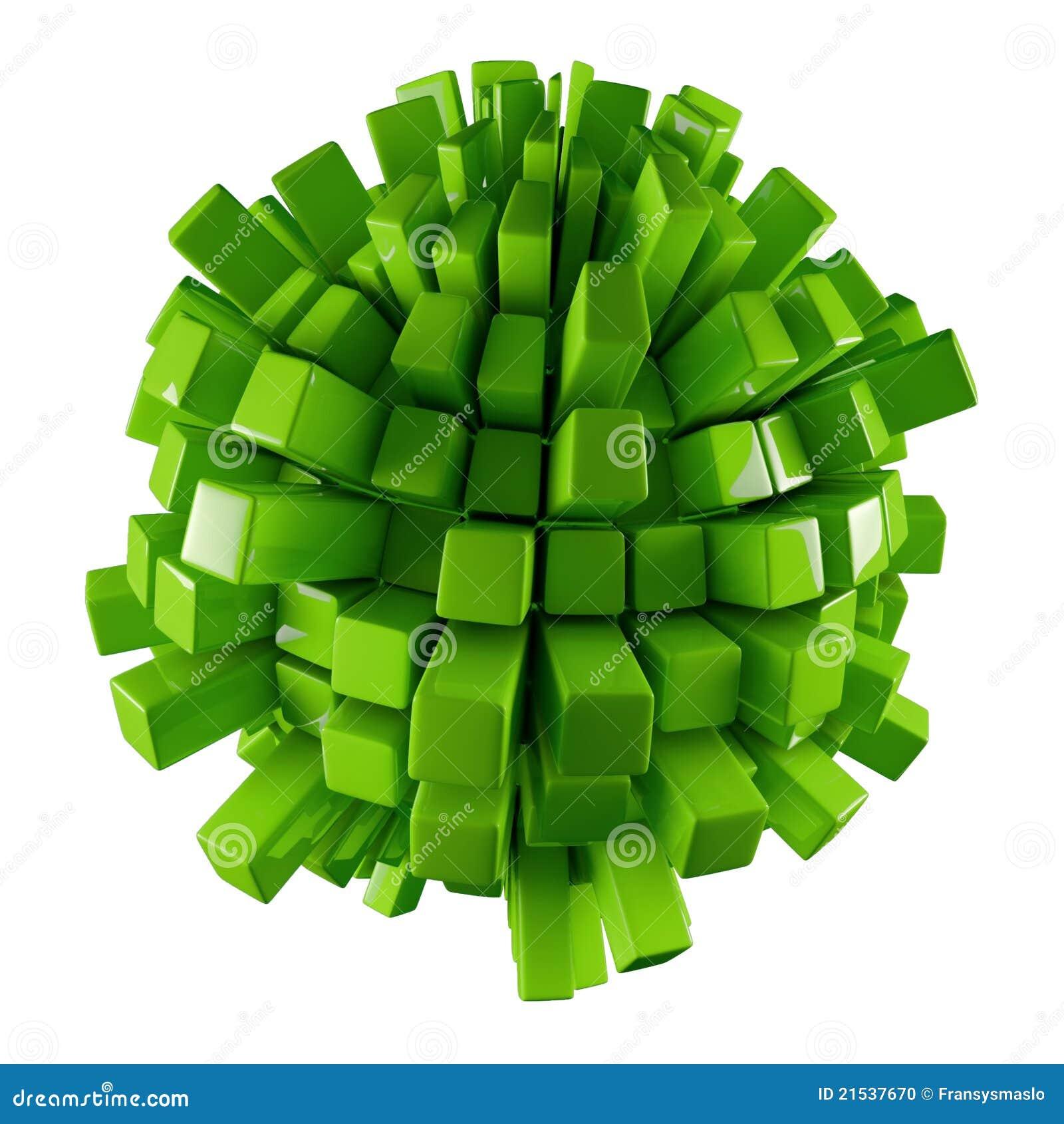 Astrazione verde 3D
