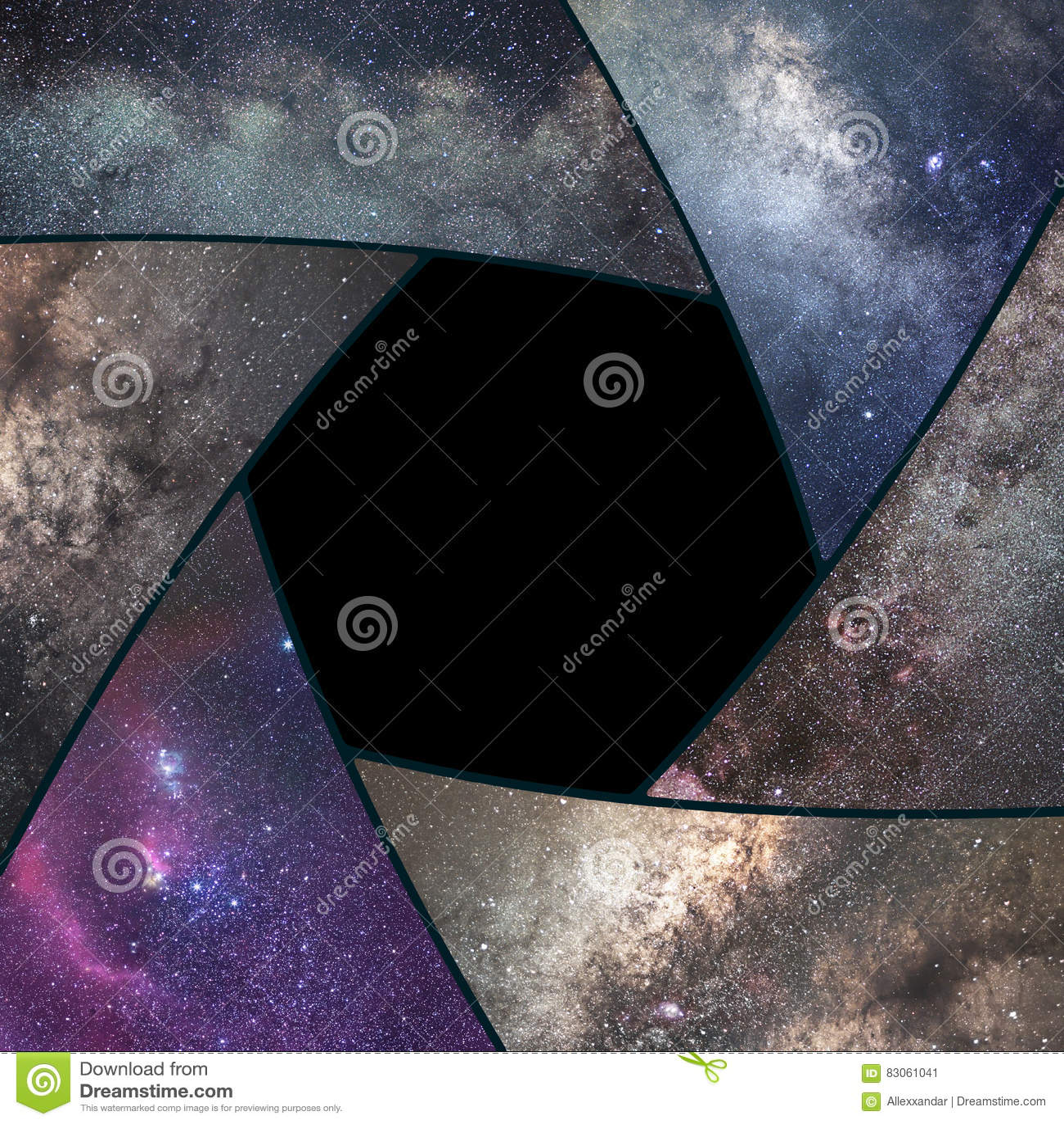 Astrofotografia kolaż Żaluzja kolażu wszechświat Astronautyczna astronomia