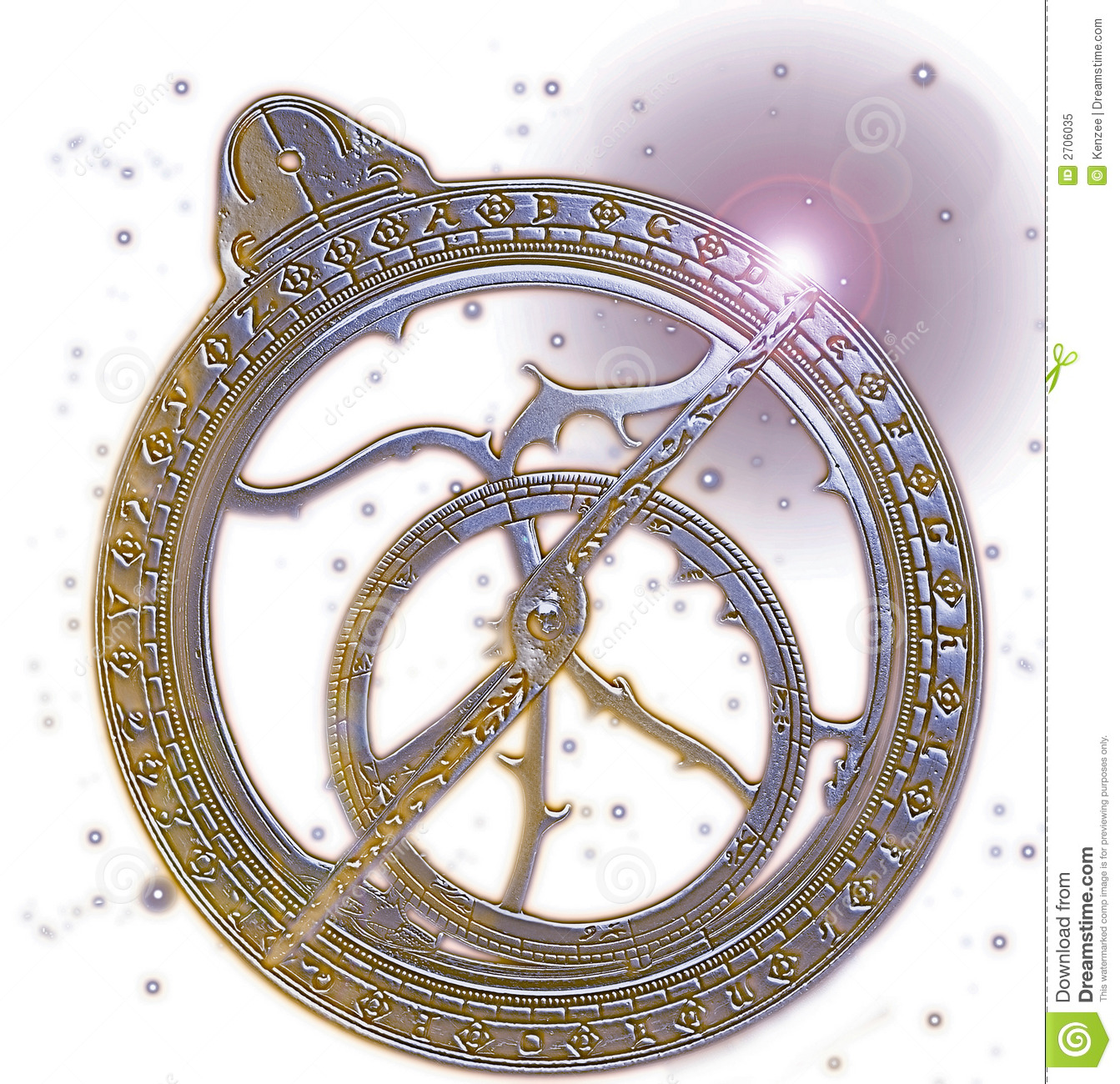 Astrolabe in space stock image. Image of space, invention ...