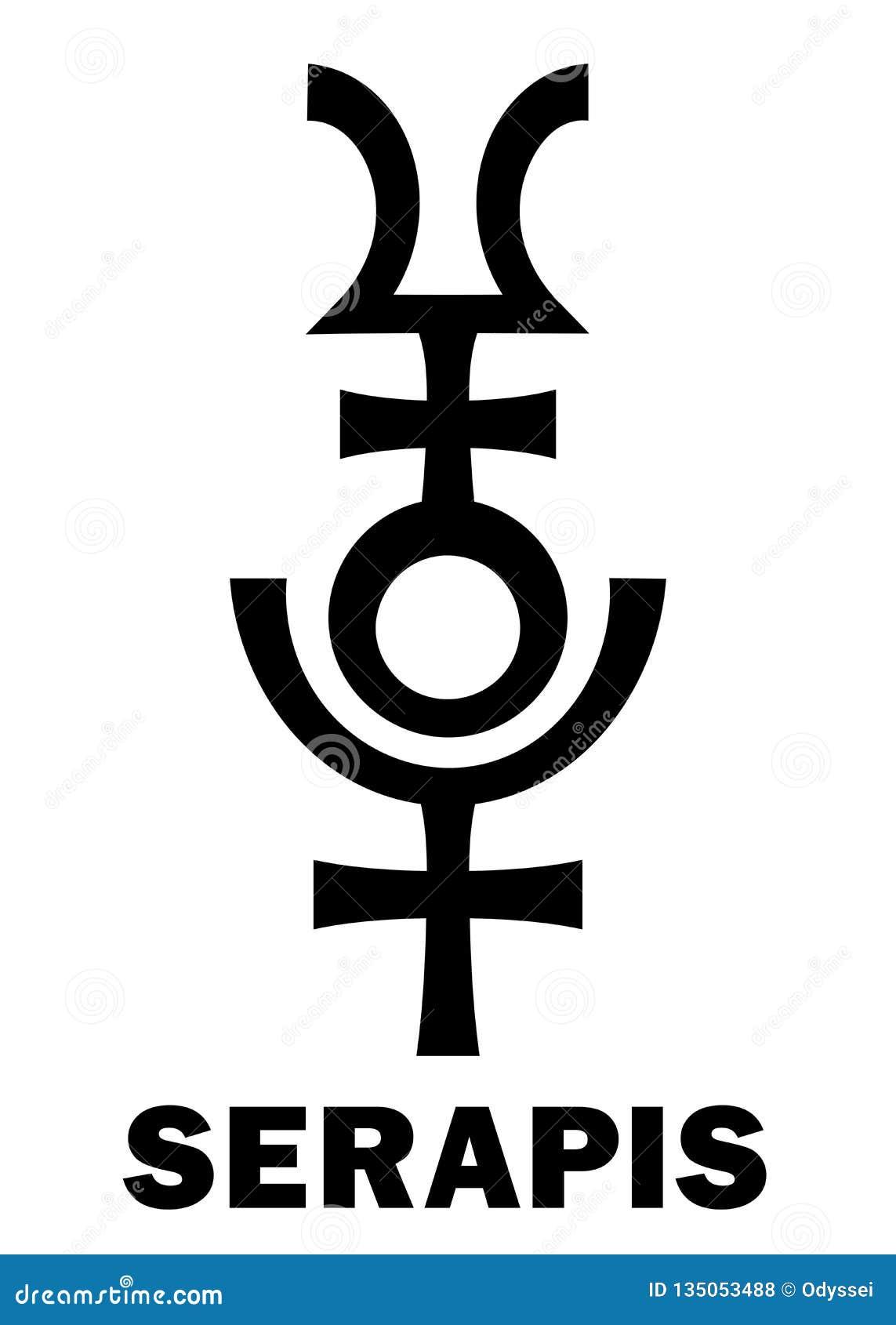 Astrología: Dios Graeco-egipcio helenístico de SERAPIS