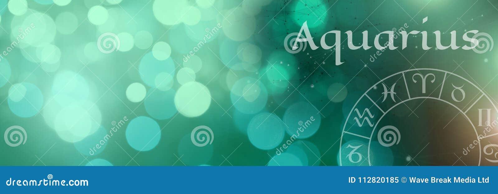 Astrología mística del zodiaco del acuario