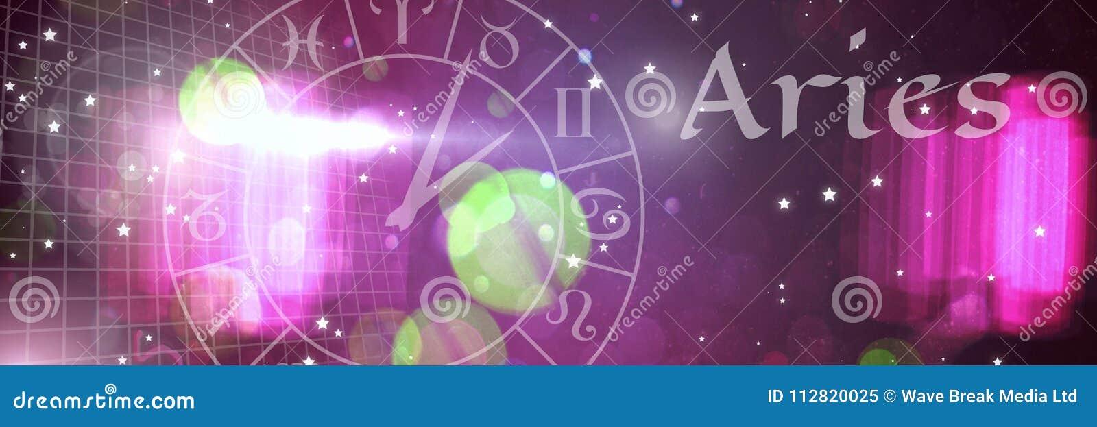 Astrología mística del zodiaco del aries
