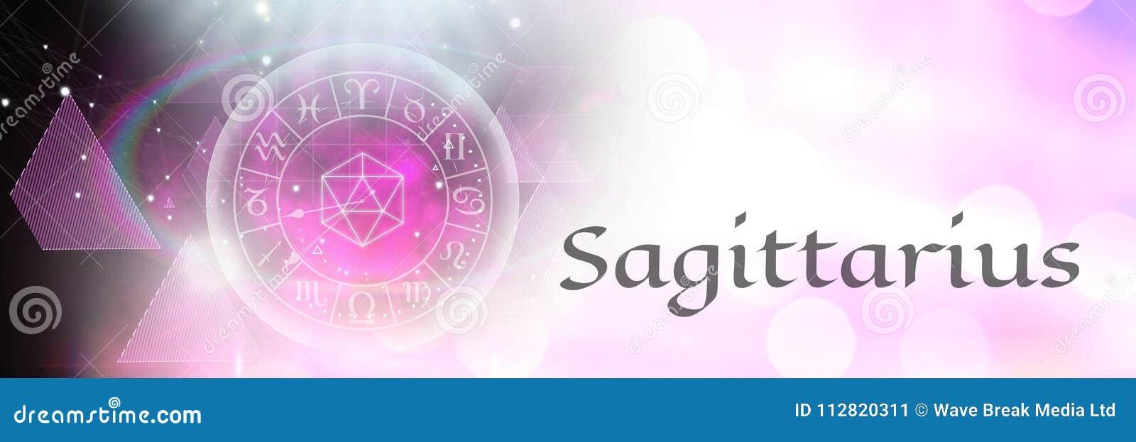 Astrología mística del zodiaco del sagitario