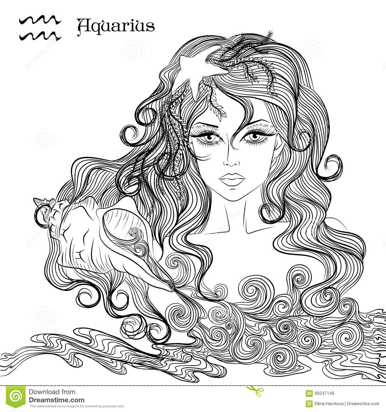 Free coloring pages zodiac signs