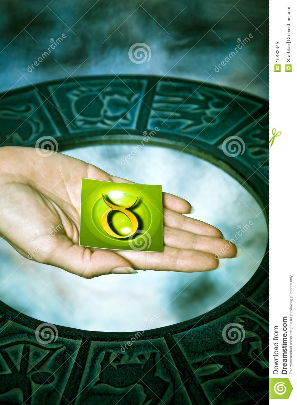 Download Astrological sign Taurus stock image. Image of green - 10482645