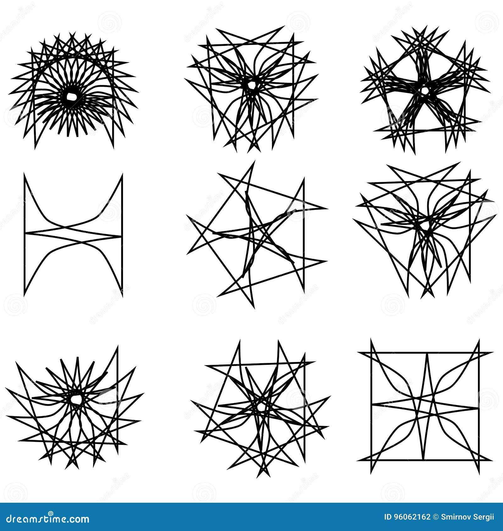 Astrologie géométrique de pentagone étoilé d ensemble