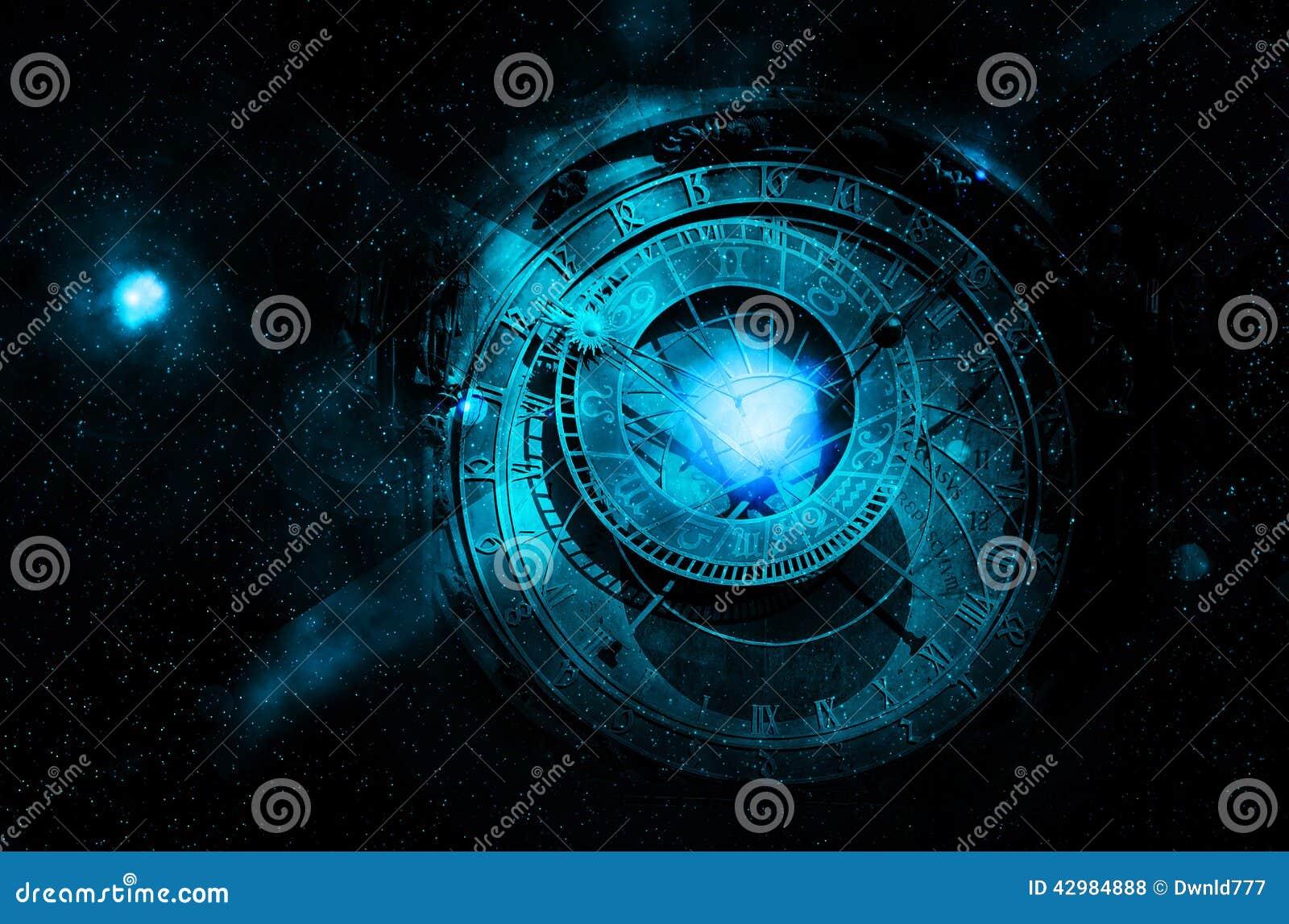 Astrologienächtlicher himmel