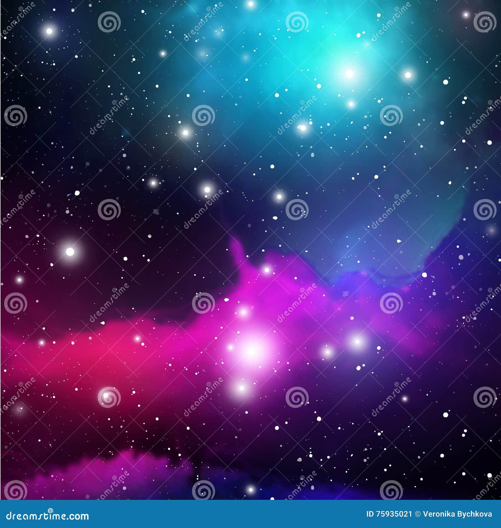 Astrologii mistyczki tło abstrakt przeciw tło żeńskiej zewnętrznej portreta przestrzeni Wektorowa Cyfrowej ilustracja wszechświat