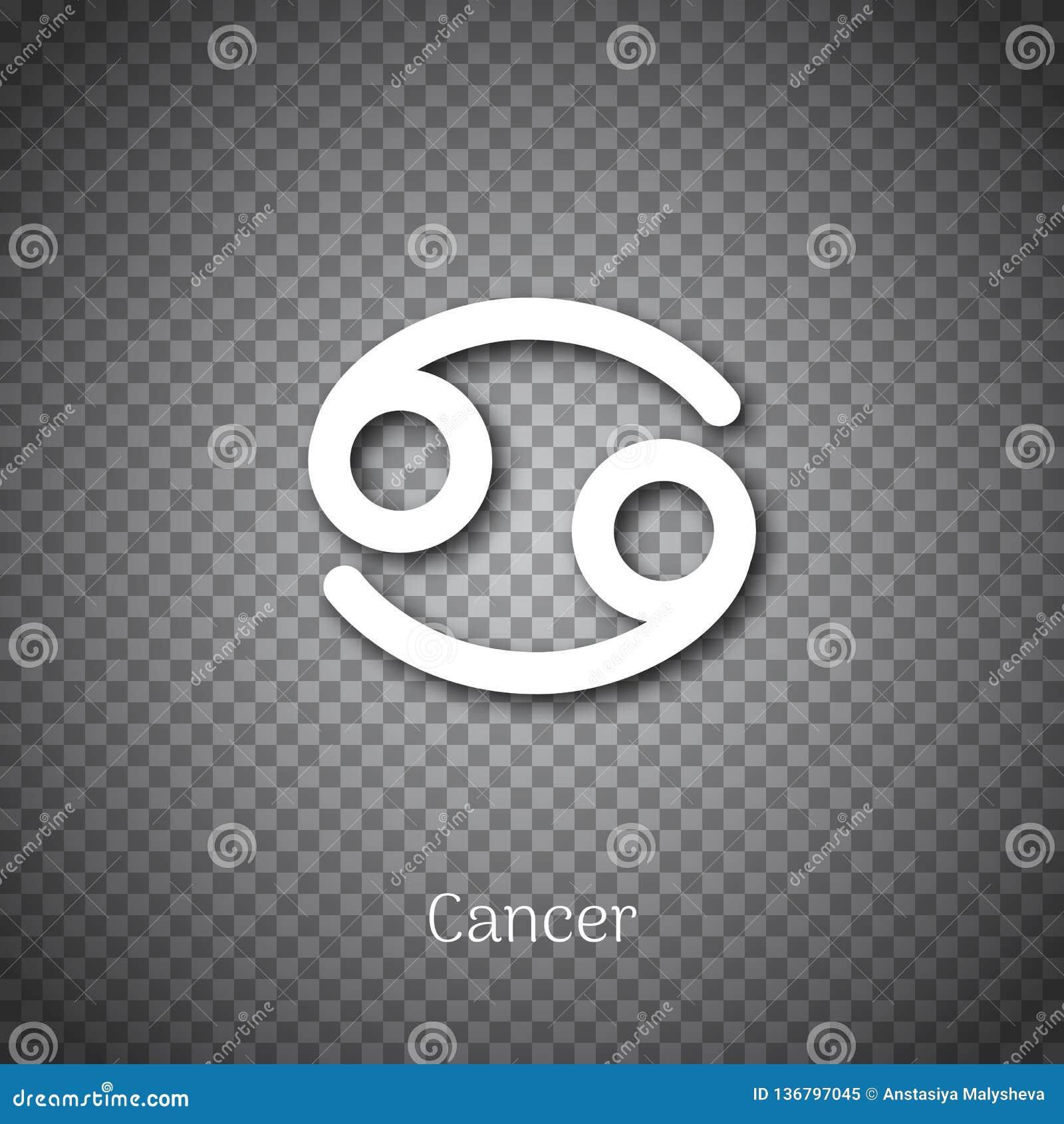 Astrologiskt symbol för cancer med skugga