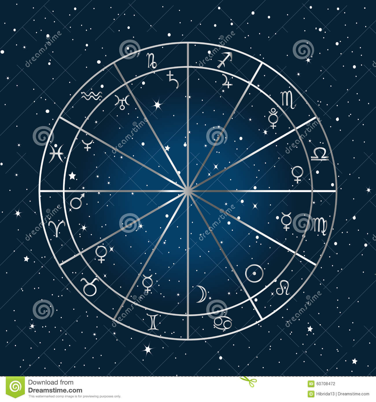 astrology background stock vector