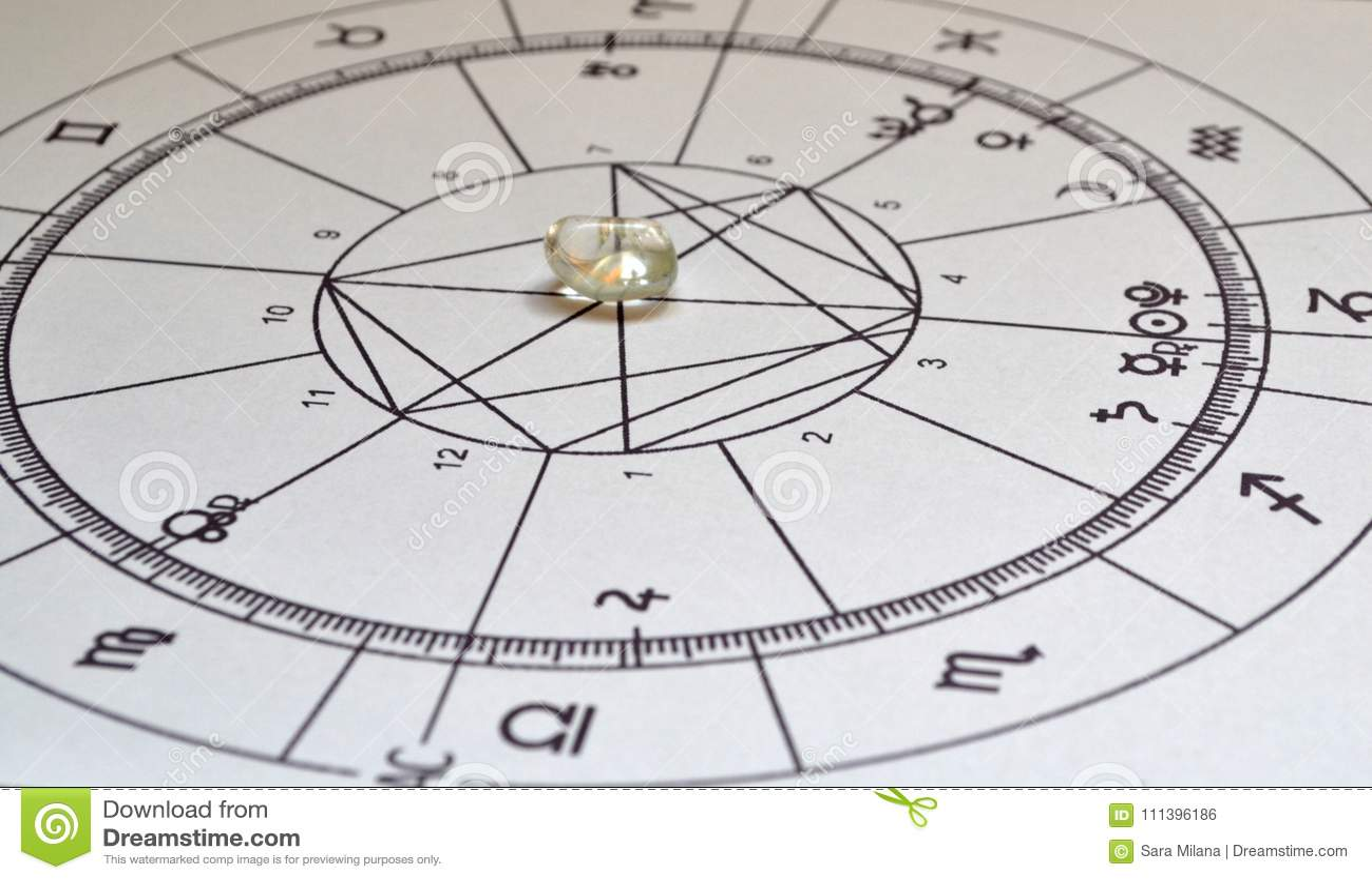 Astrology chart Angel Aura Quartz Natural stone Crystal Natal chart