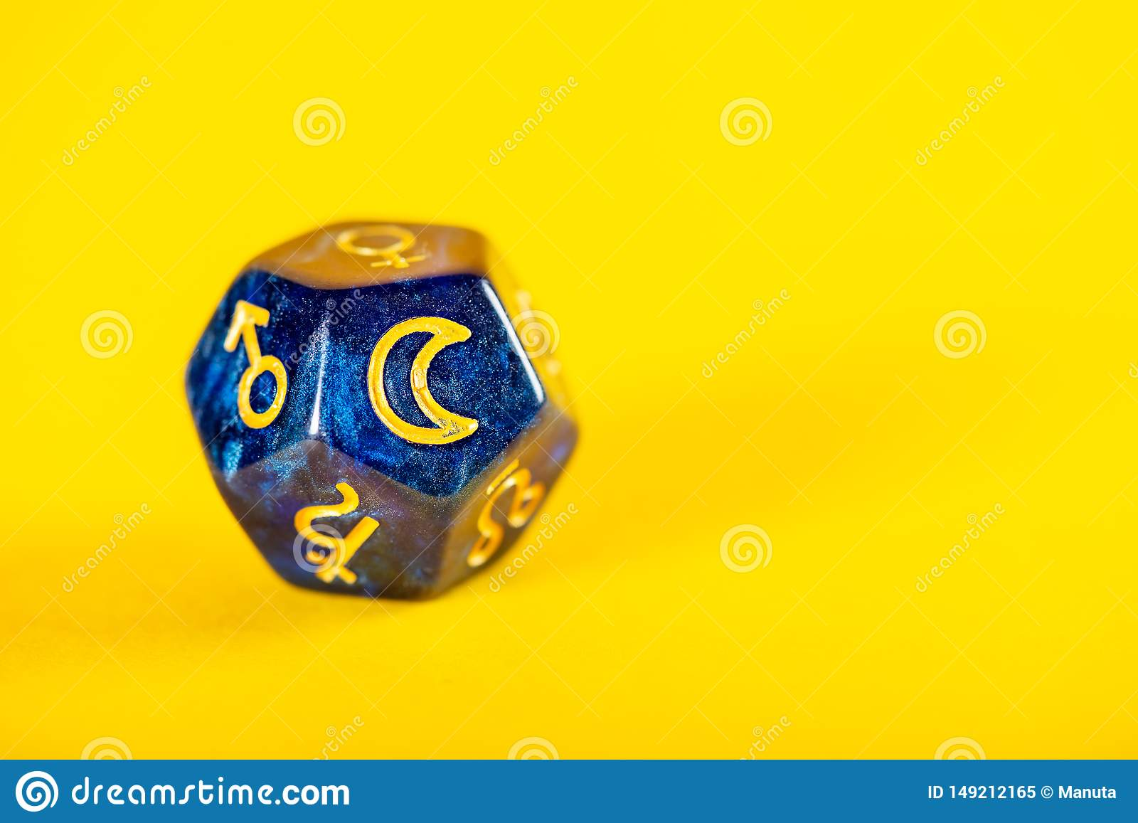 Astrology Dice With Symbol Of The Moon Stock Image Image Of Sagittarius Future 149212165