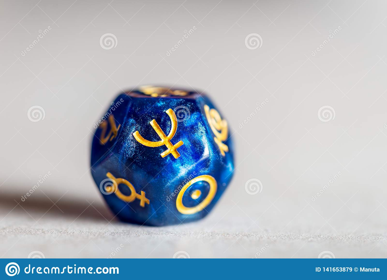 Astrology Dice with symbol of the planet Neptune