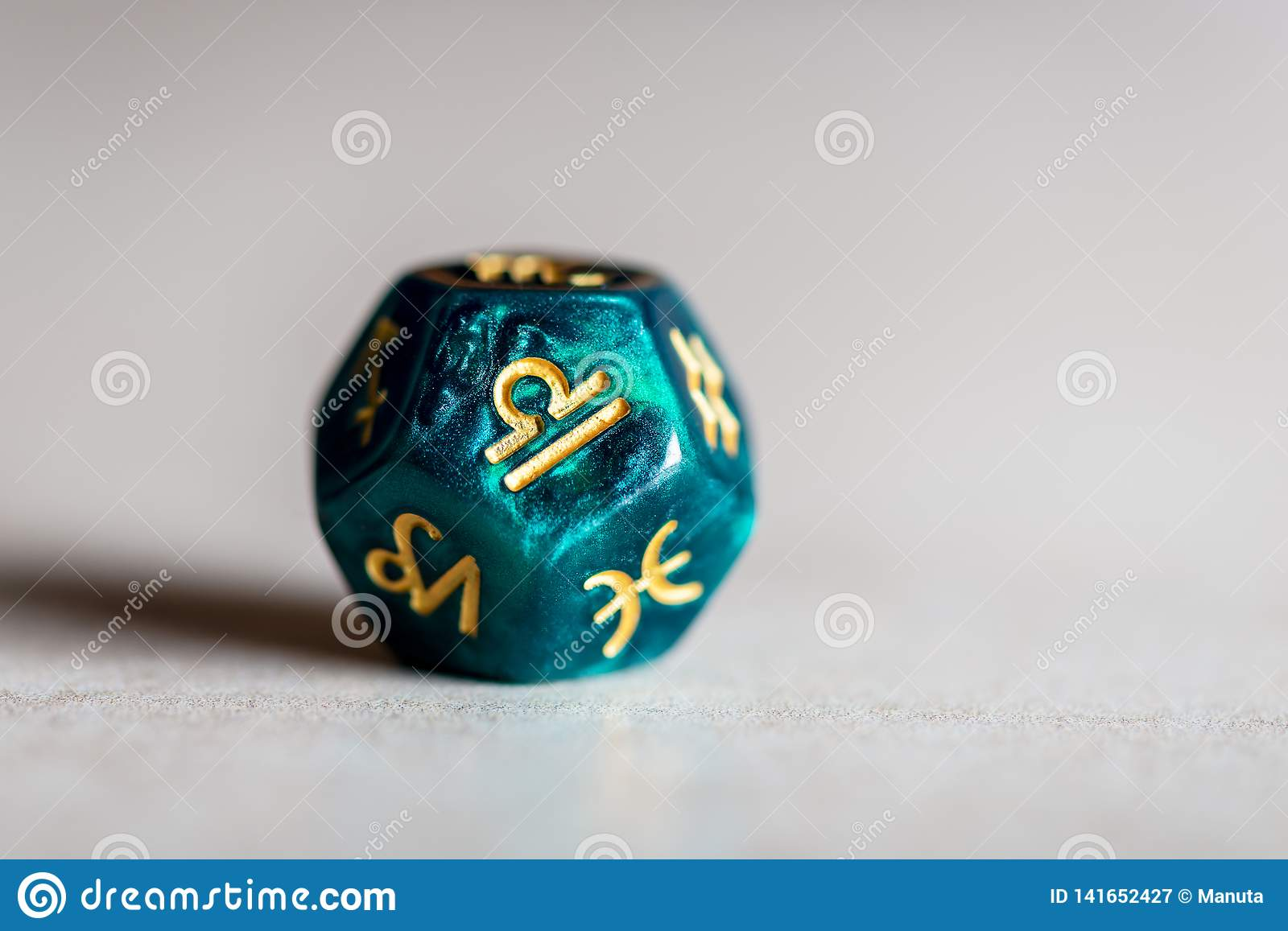 Astrology Dice with zodiac symbol of Libra
