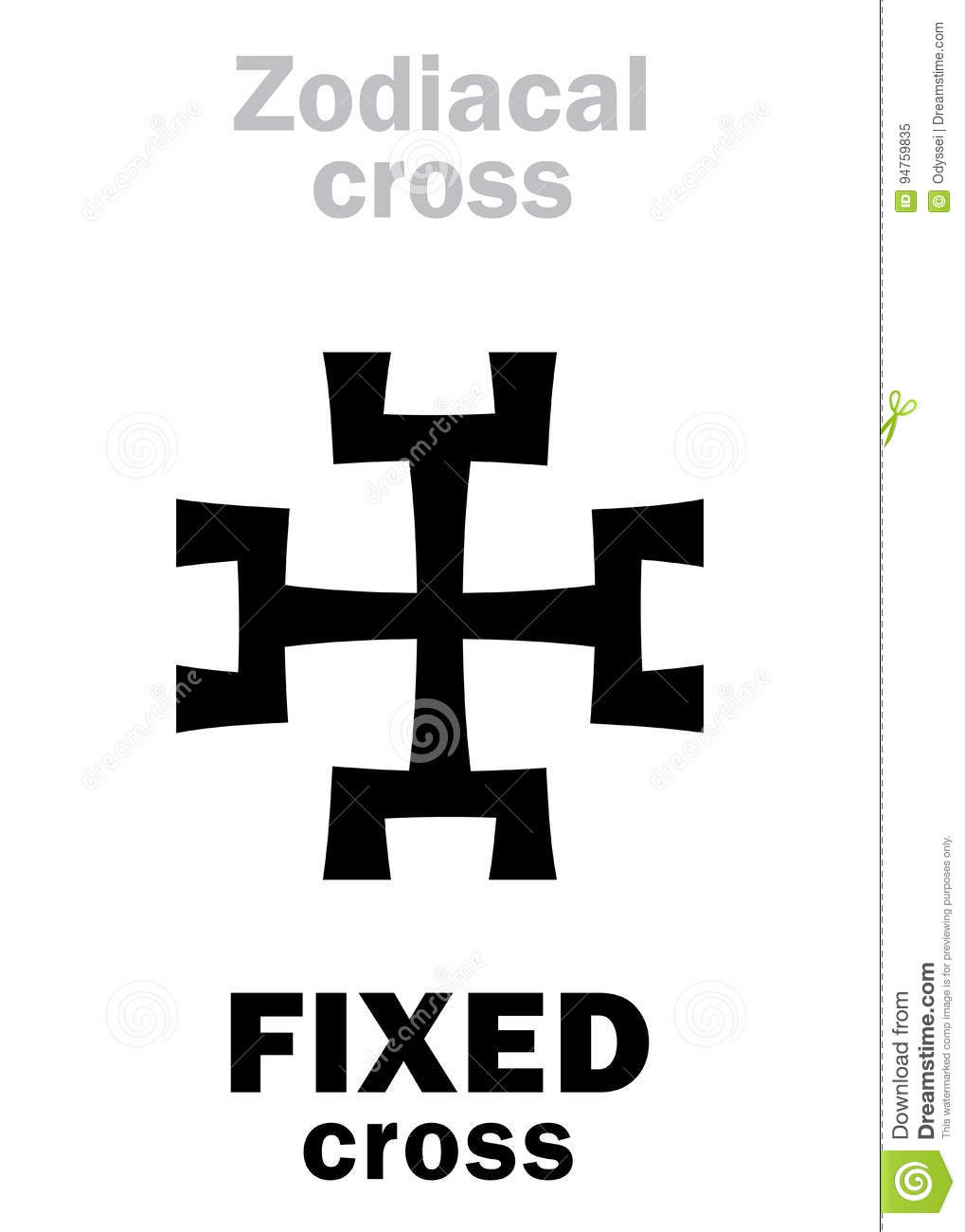 Astrology Fixed Cross Stock Vector Illustration Of Kabbalistic