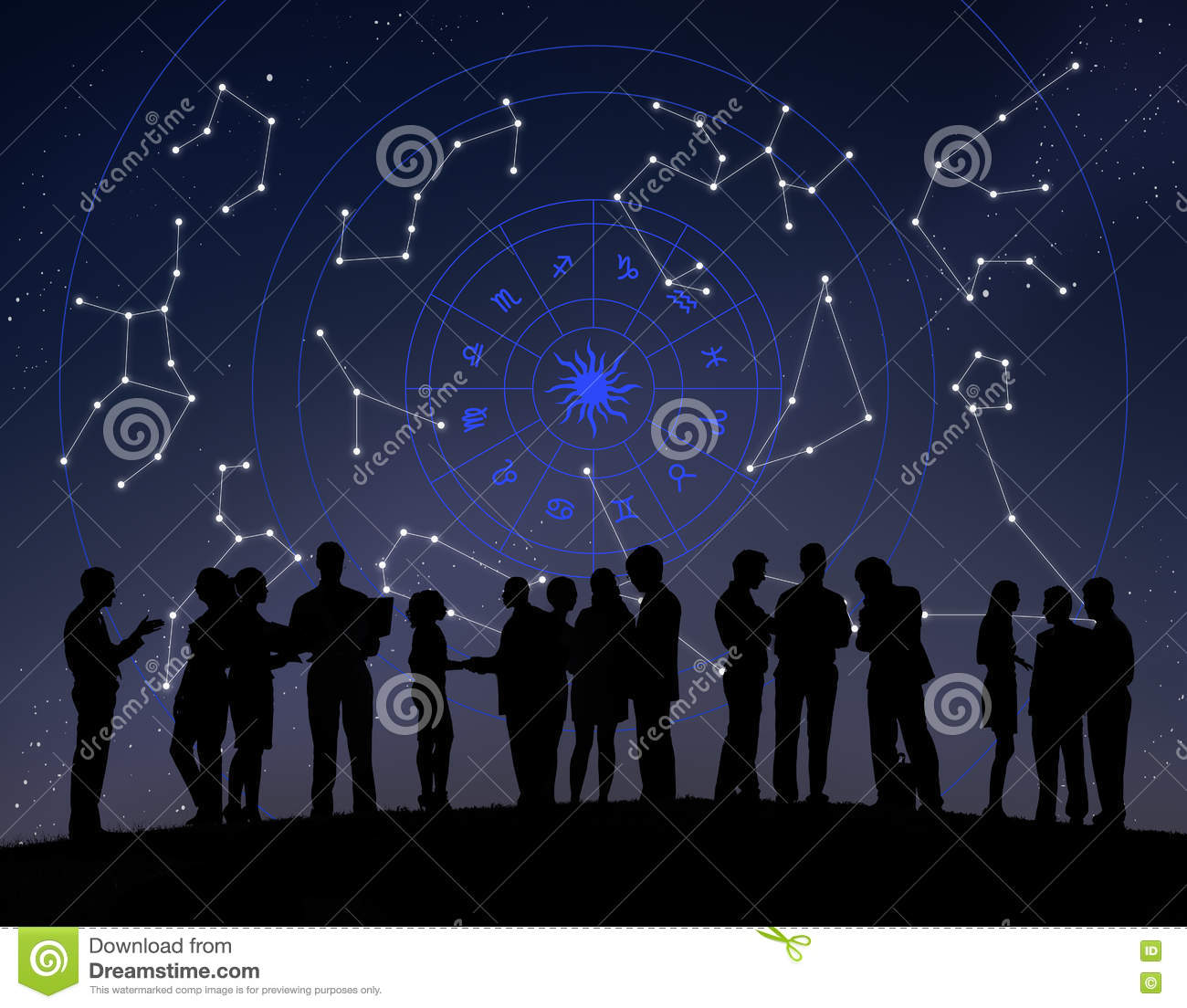 Astrology Horoscope Stars Zodiac Signs Stock Photo - Image