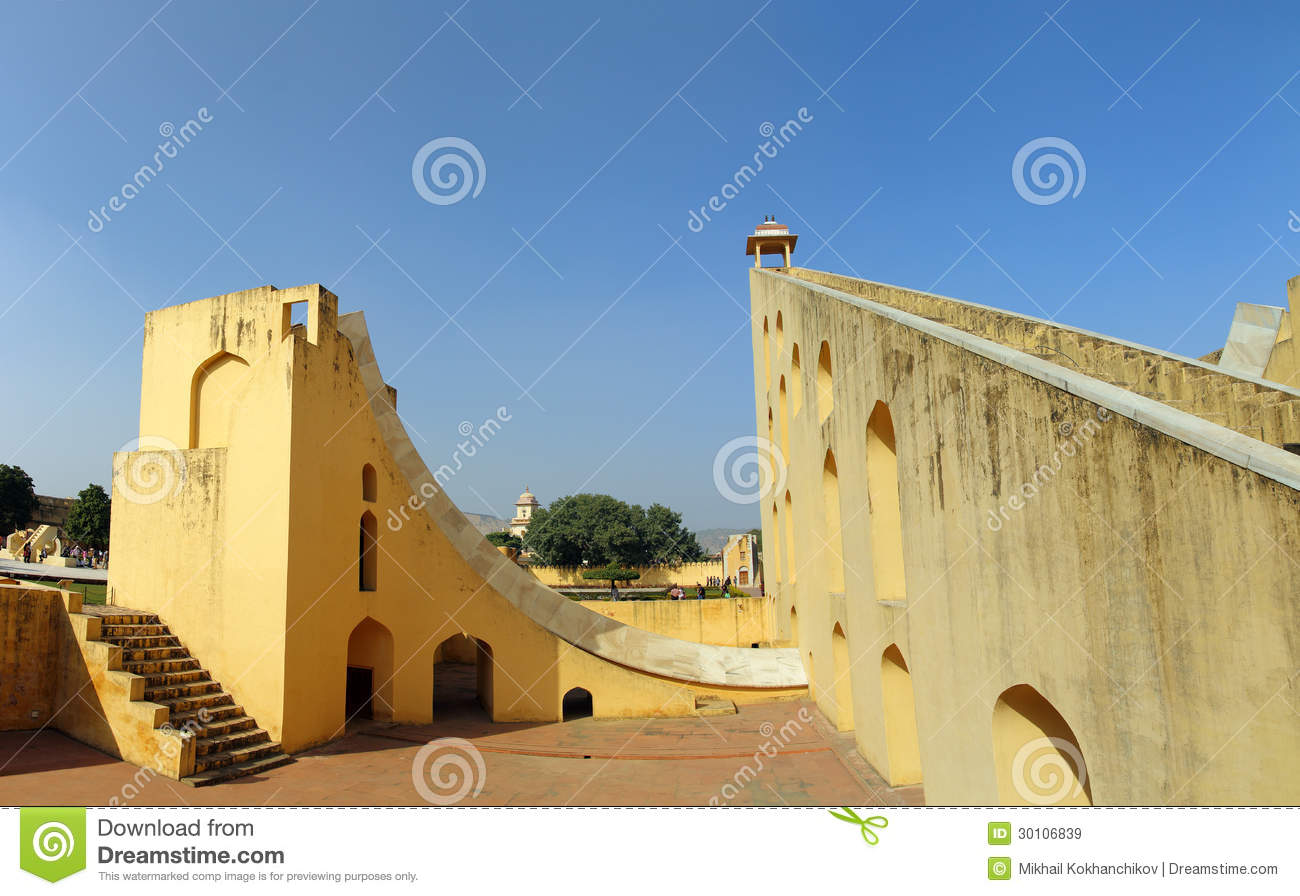 Old astrology observatory in Jaipur India