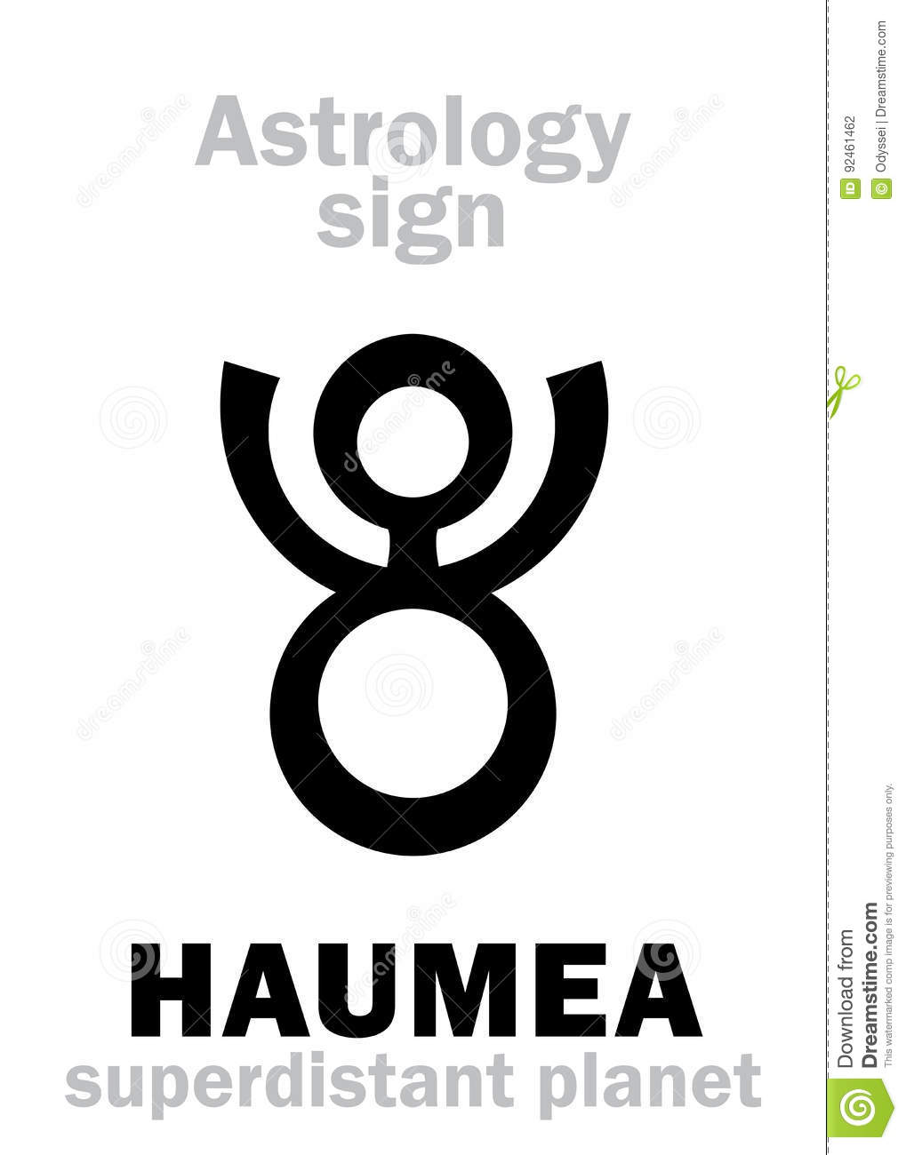 Astrology Planet Haumea Stock Vector Illustration Of Isis 92461462